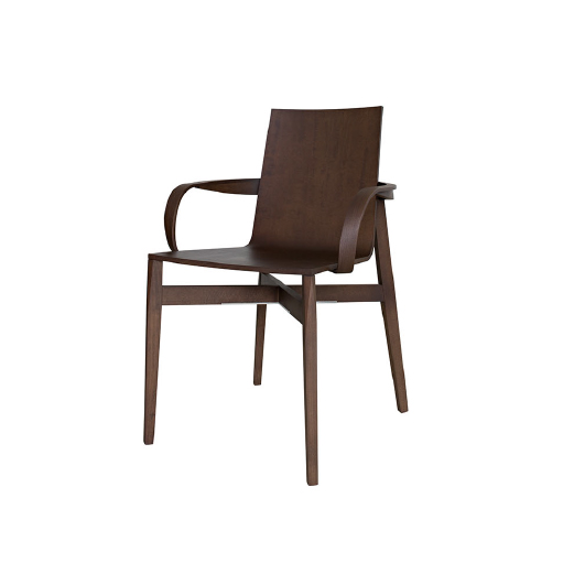 WHO - MOLTENI&CA novel shape for the Who chair, a solid wood structure that supports an ethereal seat which is leather covered on the front. The version with armrests complets the range, highlighted by rich details and the craftsmanlike manufacture.Designer: Rodolfo DordoniRRP: from $2,730