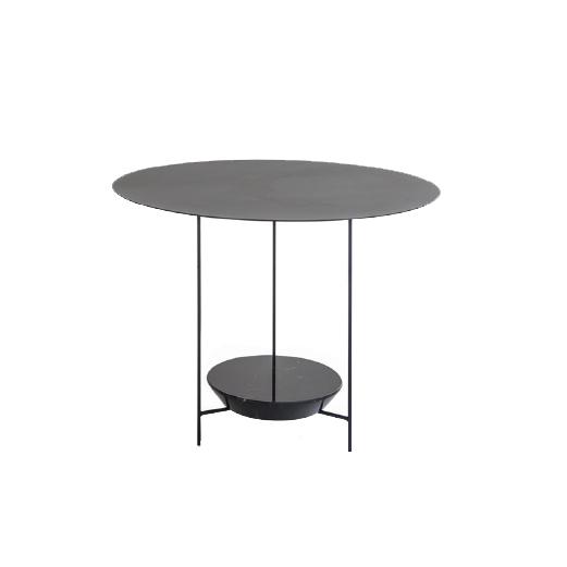 PANNA COTTA - MOLTENI&CPanna Cotta low table oval or round. At once delicate and heavy, the paradox lies in the use of materials such as marble and iron to achieve a fragile stability.A small table, it has a slight wave on top reminiscent of the typical Italian soft dessert, from which it takes its name.Designer: Ron GiladRRP: from $1,260