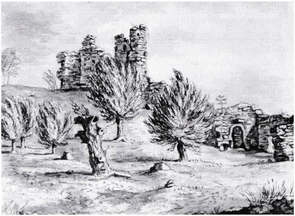 Snodhill Castle c 1800 – artist unknown
