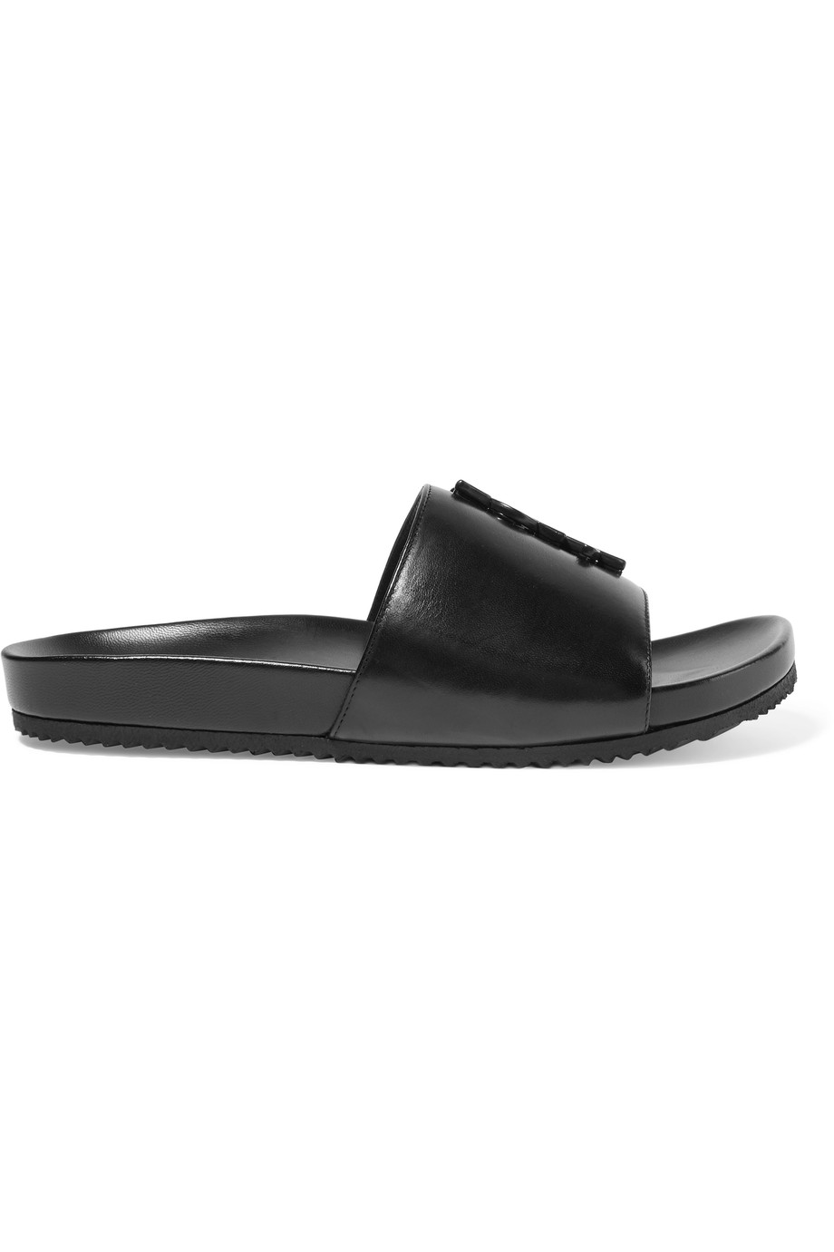Saint Laurent Joan embellished-leather slides