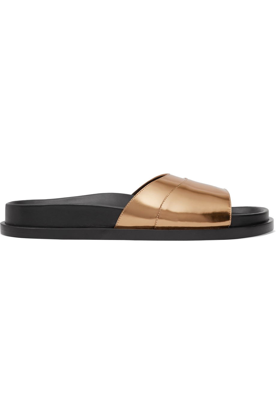 Jil Sander Mirrored-Leather Sandals