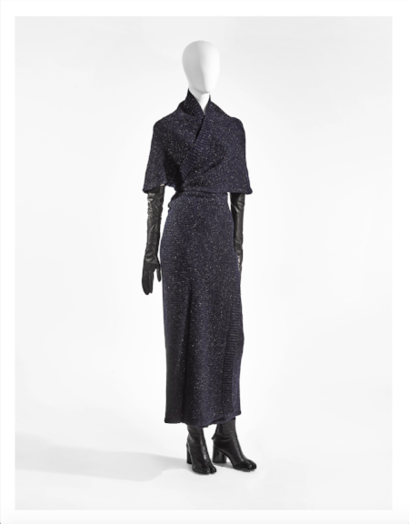 Maison Martin Margiela, A/W 1999-2000, knitted dress in wool and lurex, gloves and shoes in leather, Photo: Stany Dederen