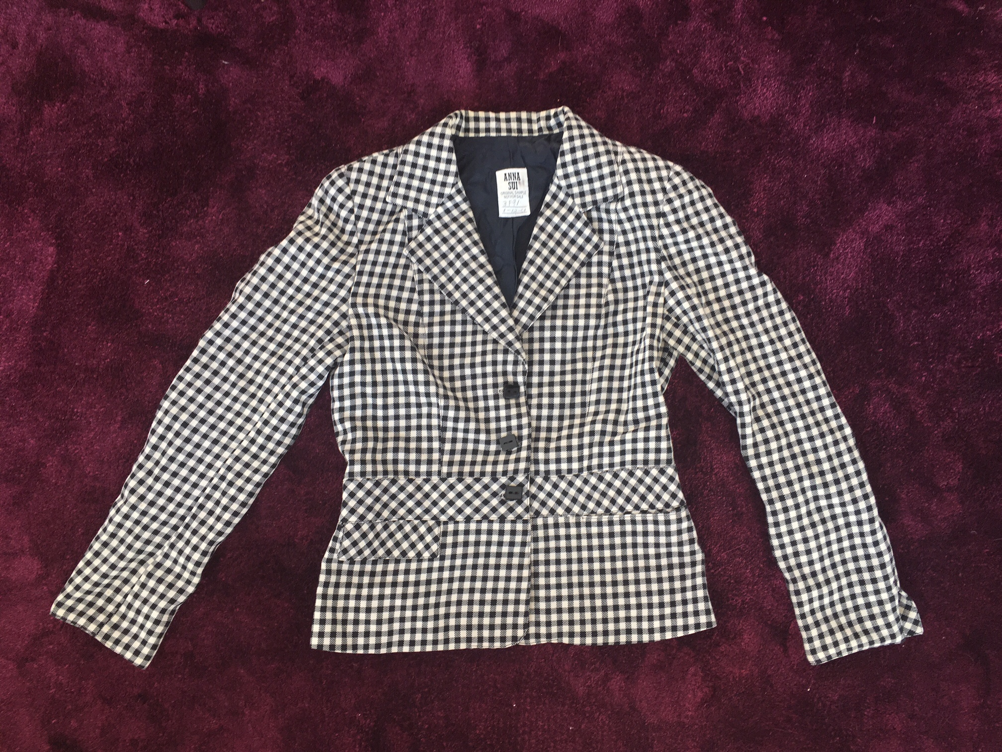 Anna Sui blazer sample, from author's archive, photo: S.Cooper