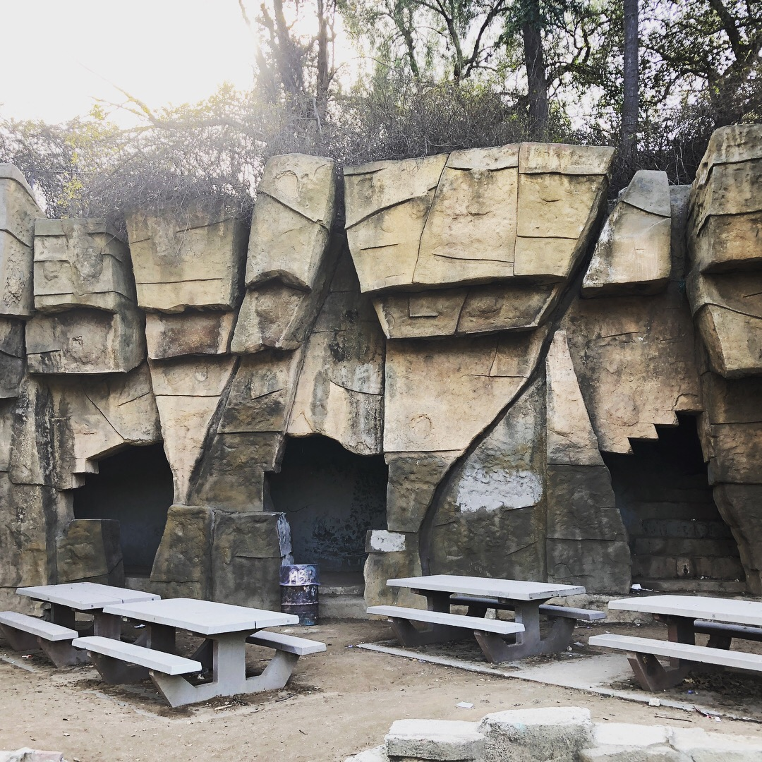 The old (abandoned) Griffith Park zoo. Here are the lion dens.