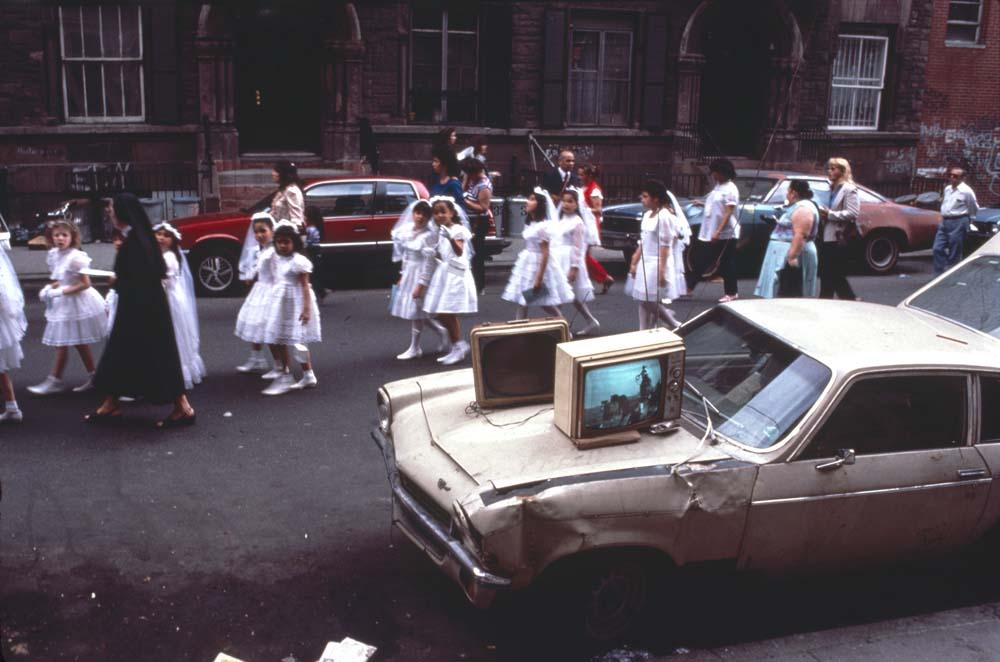 (c) Arlene Gottfried — Communion, Lower East Side, NY
