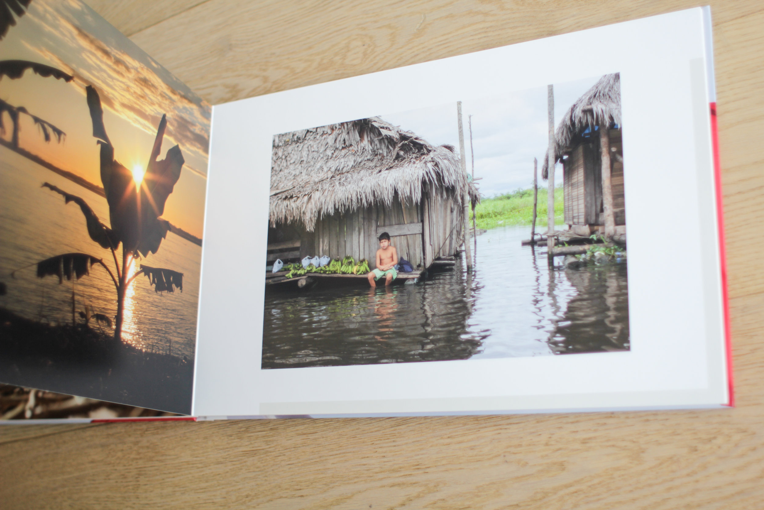 The Amazon in Peru reflected in this Saal Digital UK Photo Book Product Review by Geraint Rowland Photography.