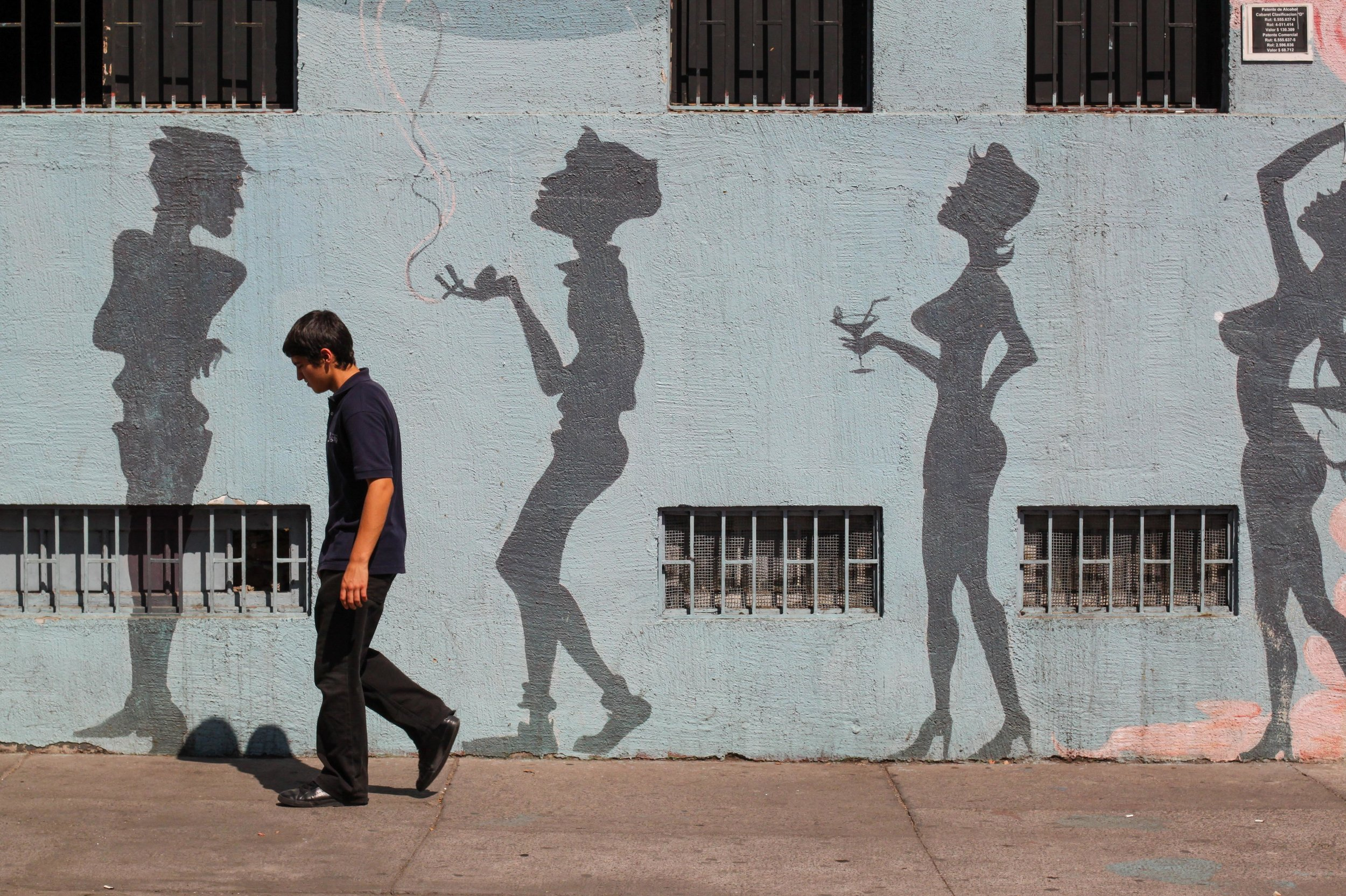 Street Art & street photography in Santiago, Chile.