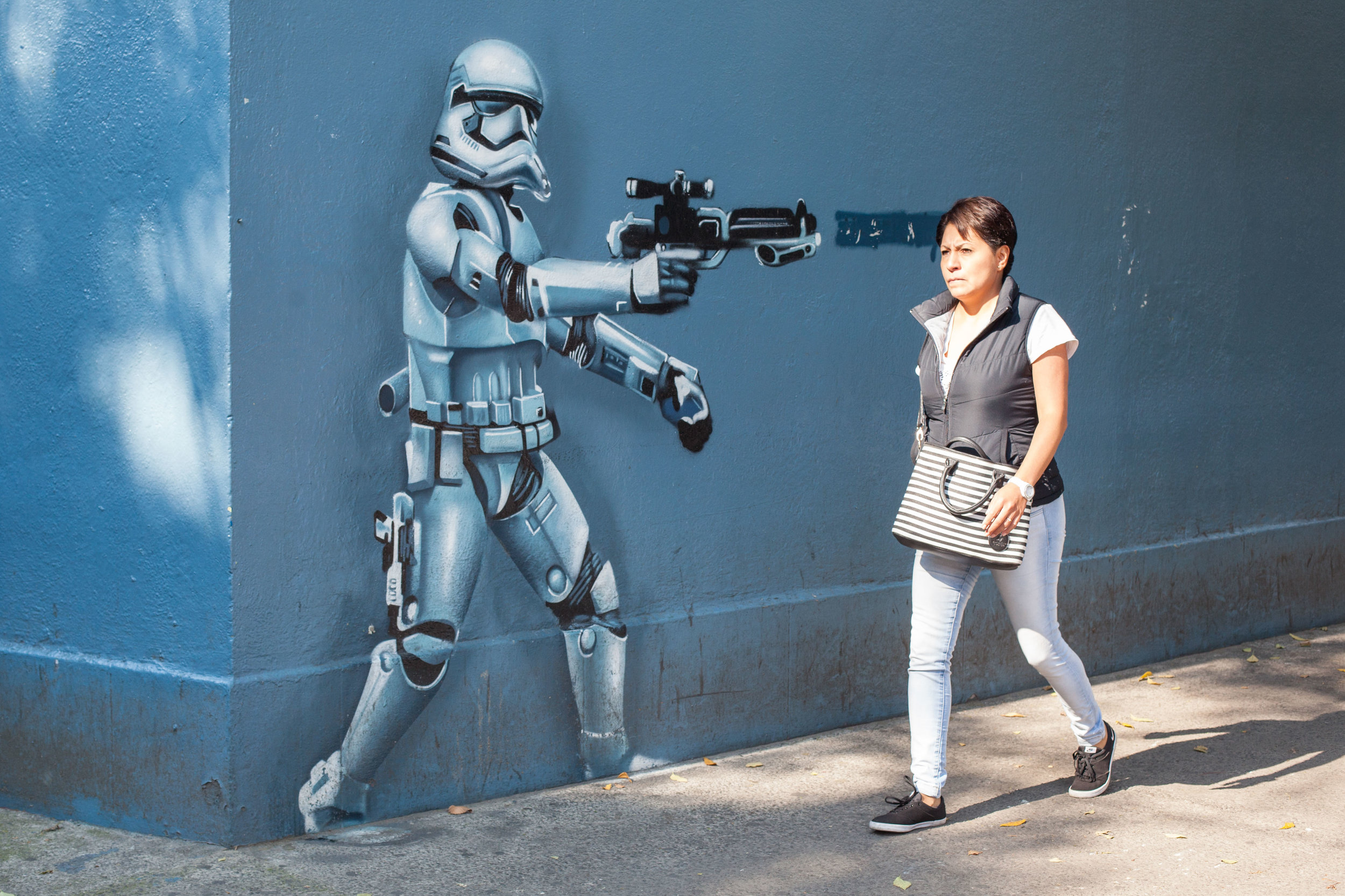 Star Wars Street Art in Condessa, Mexico City.