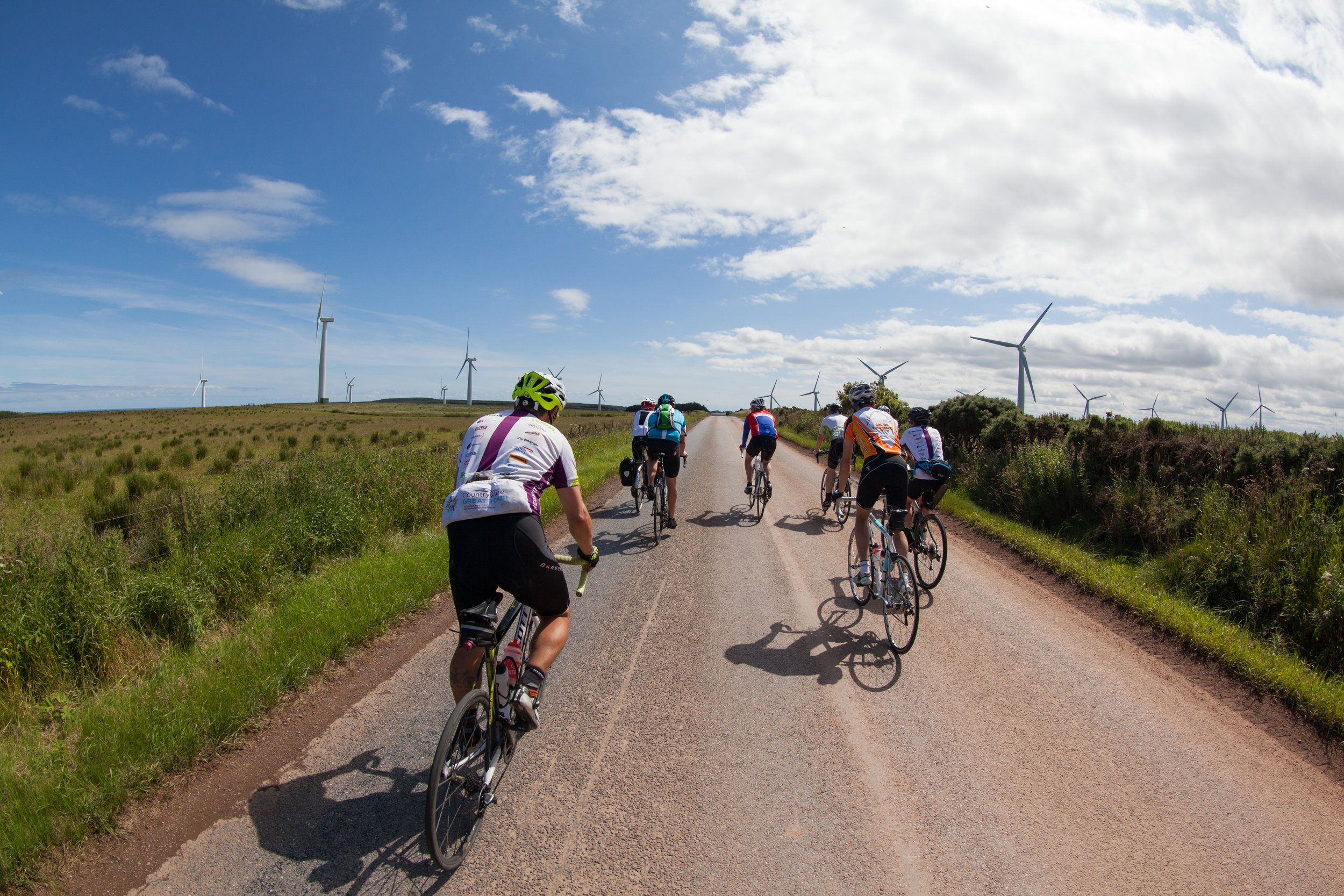 Cyclists in Scotland.