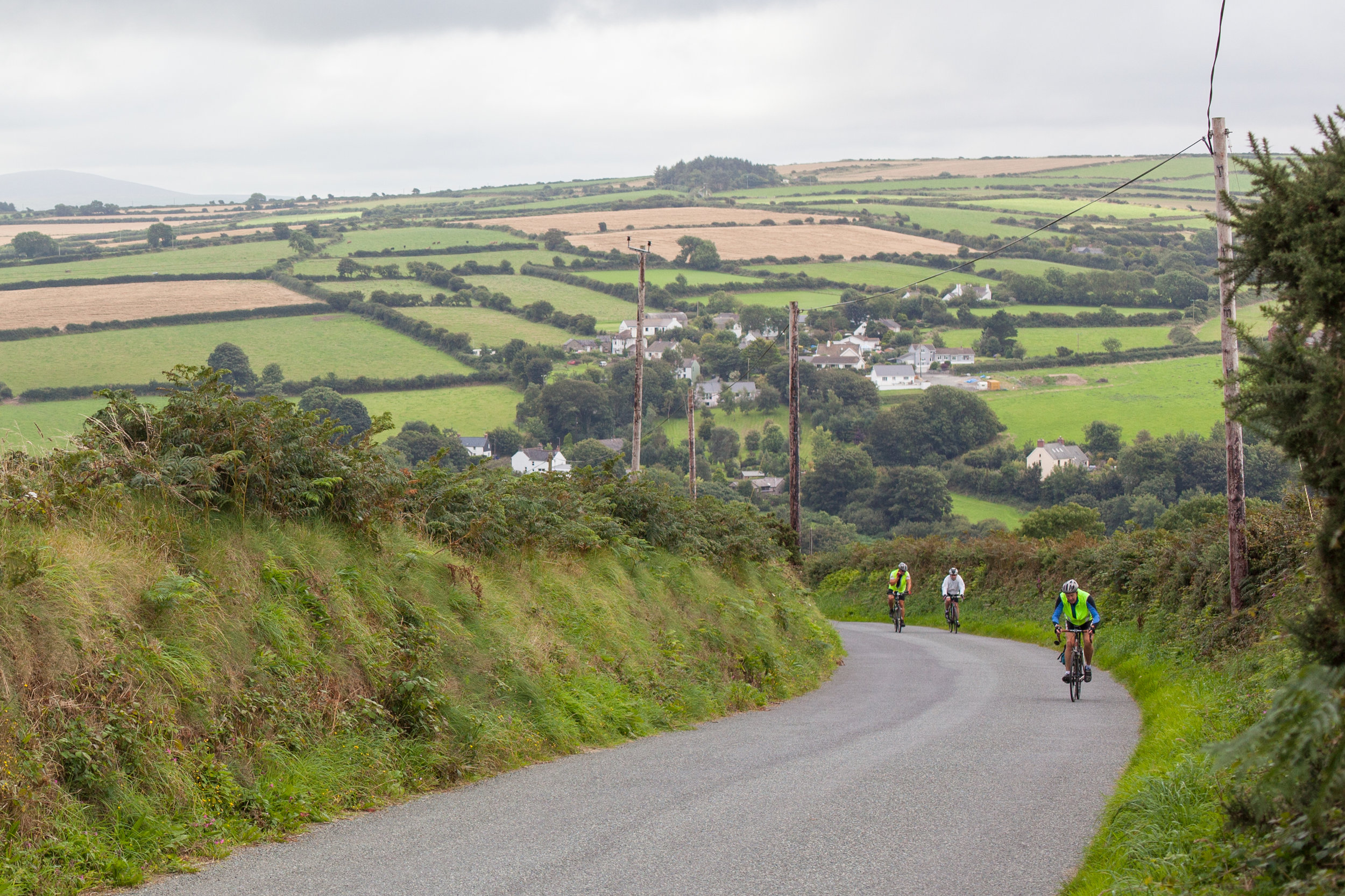 Downhill cycling in Wales.