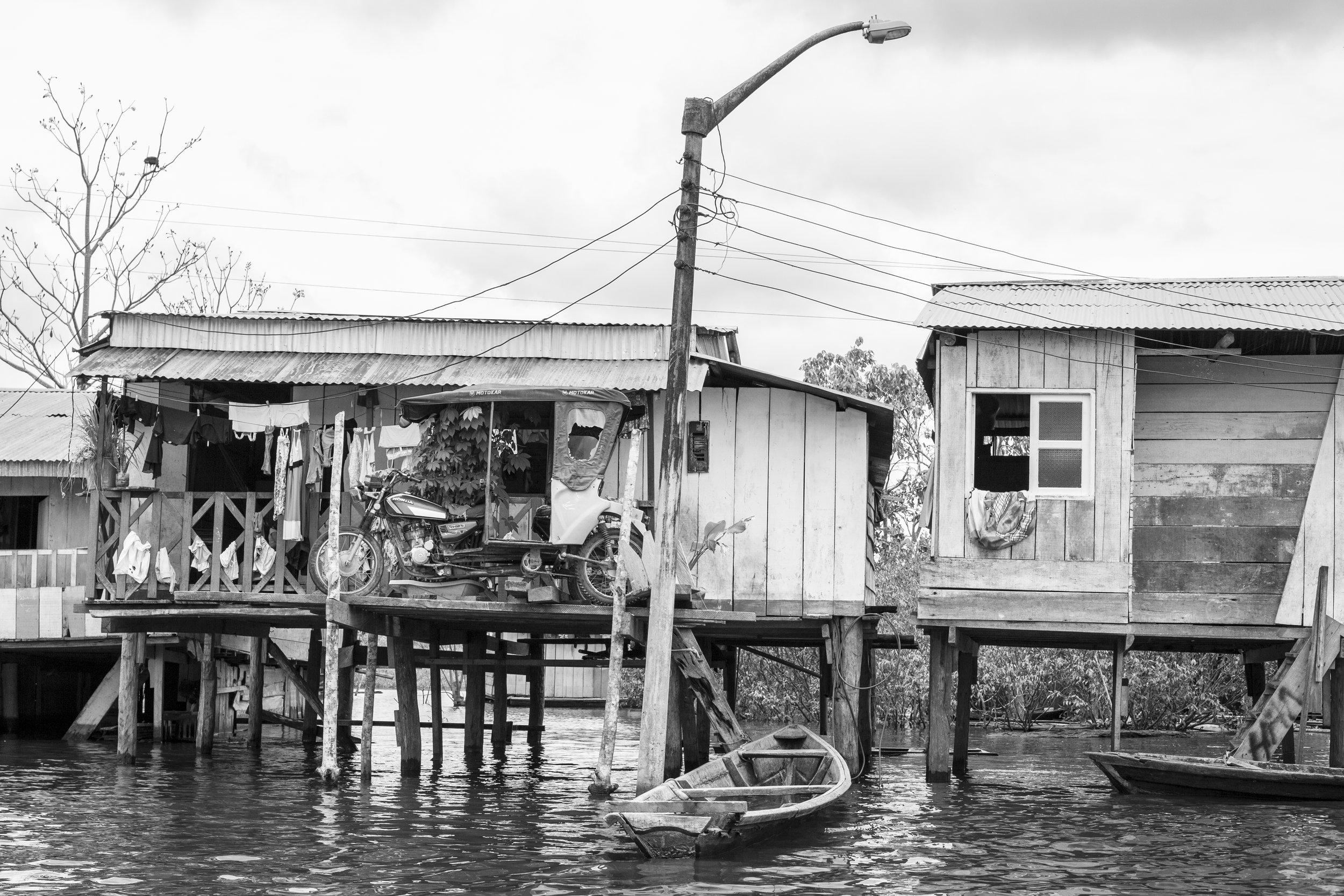 Black and White Photography at Belen Village, Iquitos Peru.