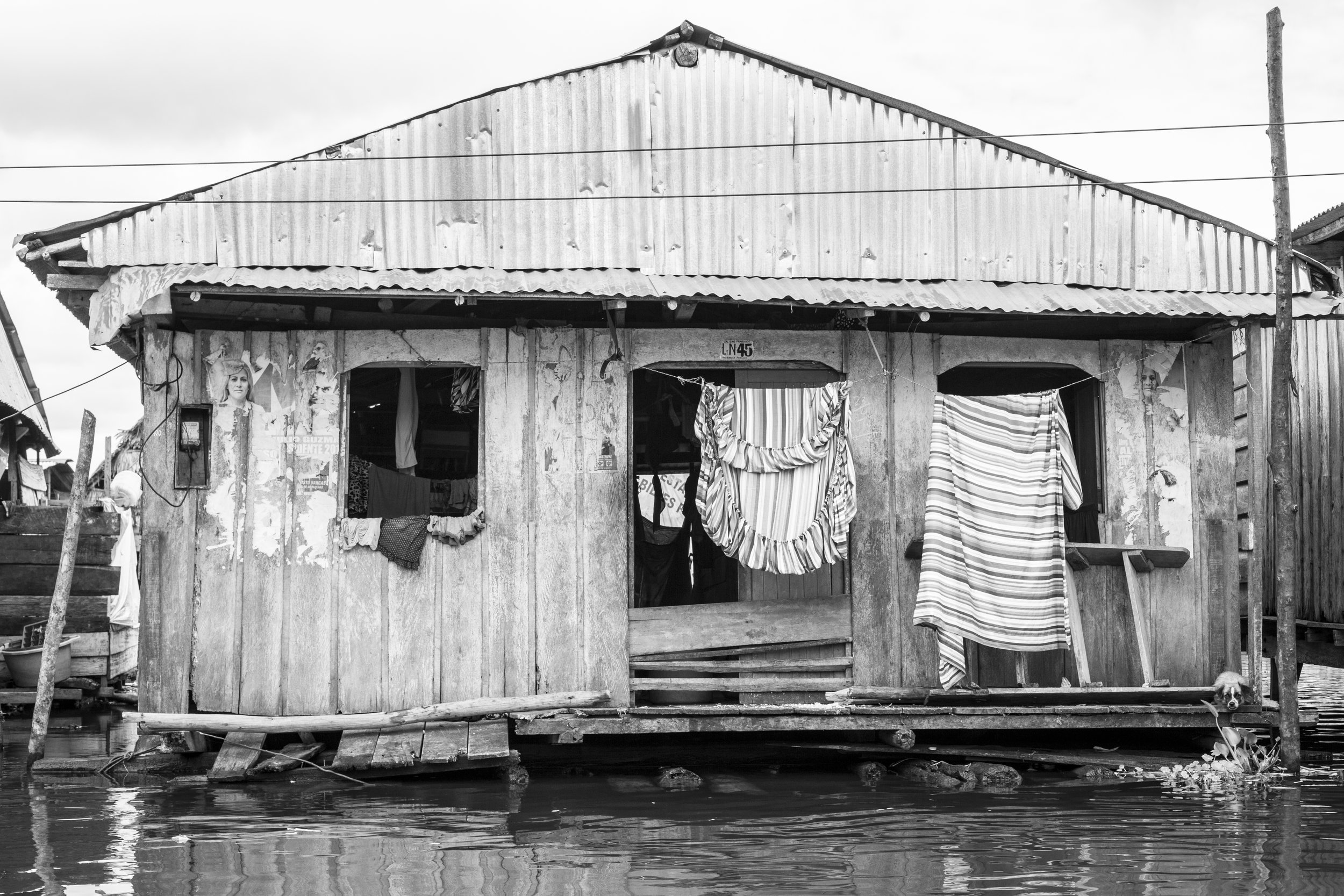 Poverty in Iquitos, Peru.