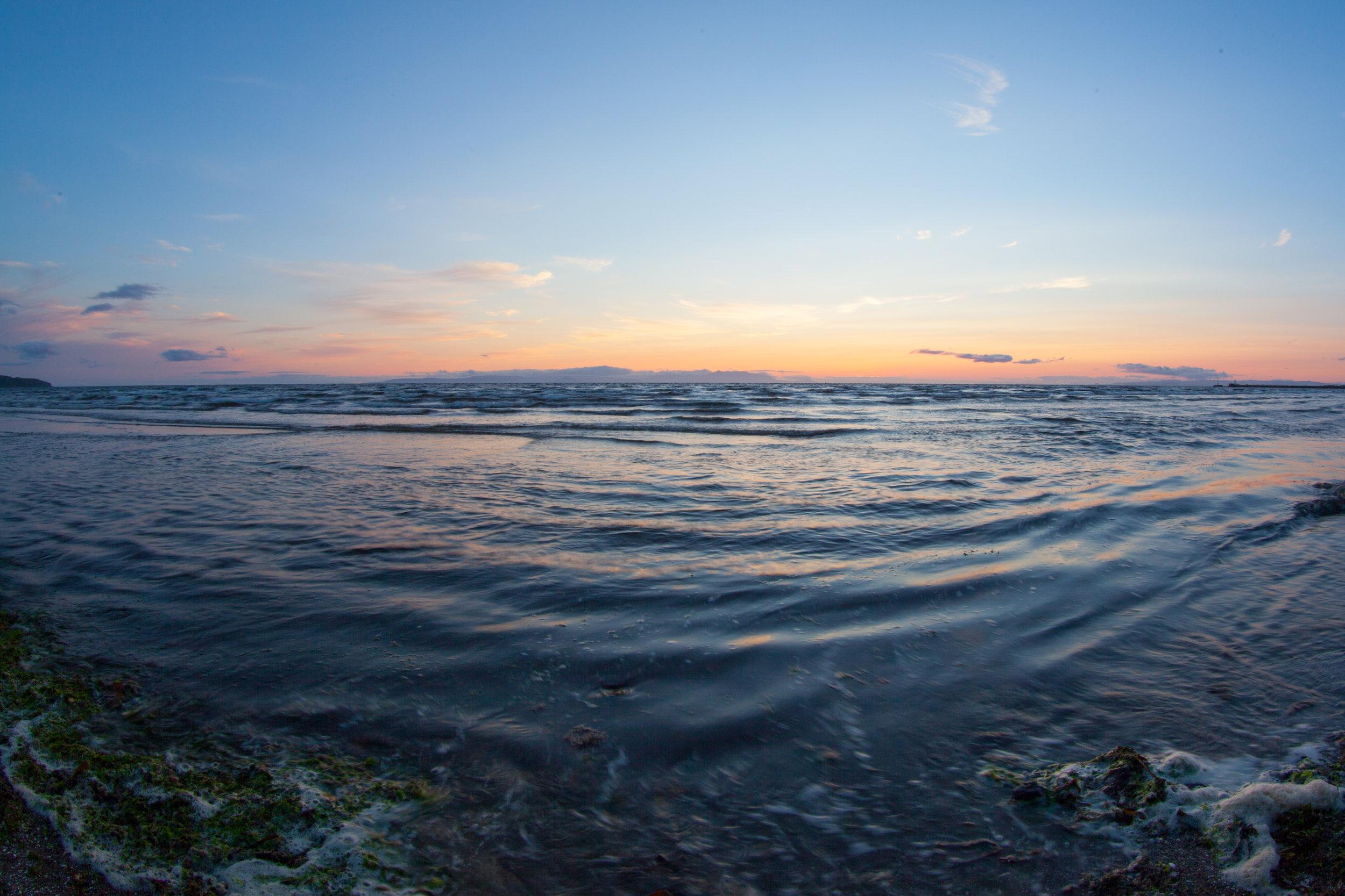 An abstract ocean photo taken in Ayr, Scotland.