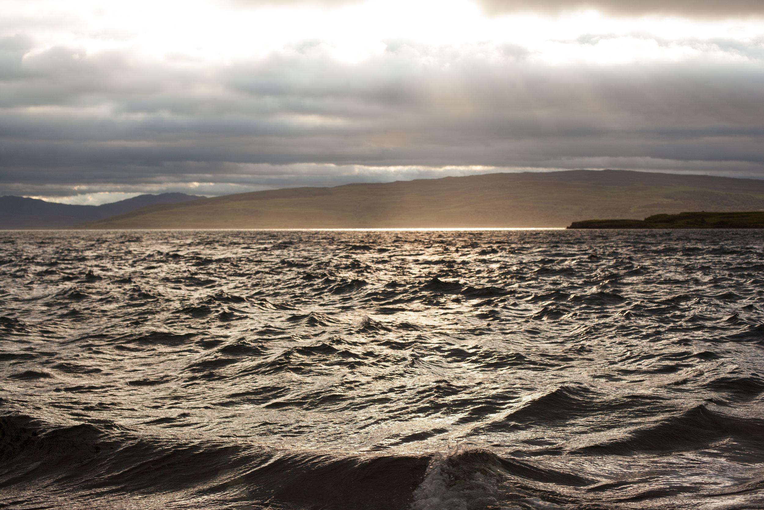 Rough seas & beautiful light, Scotland.