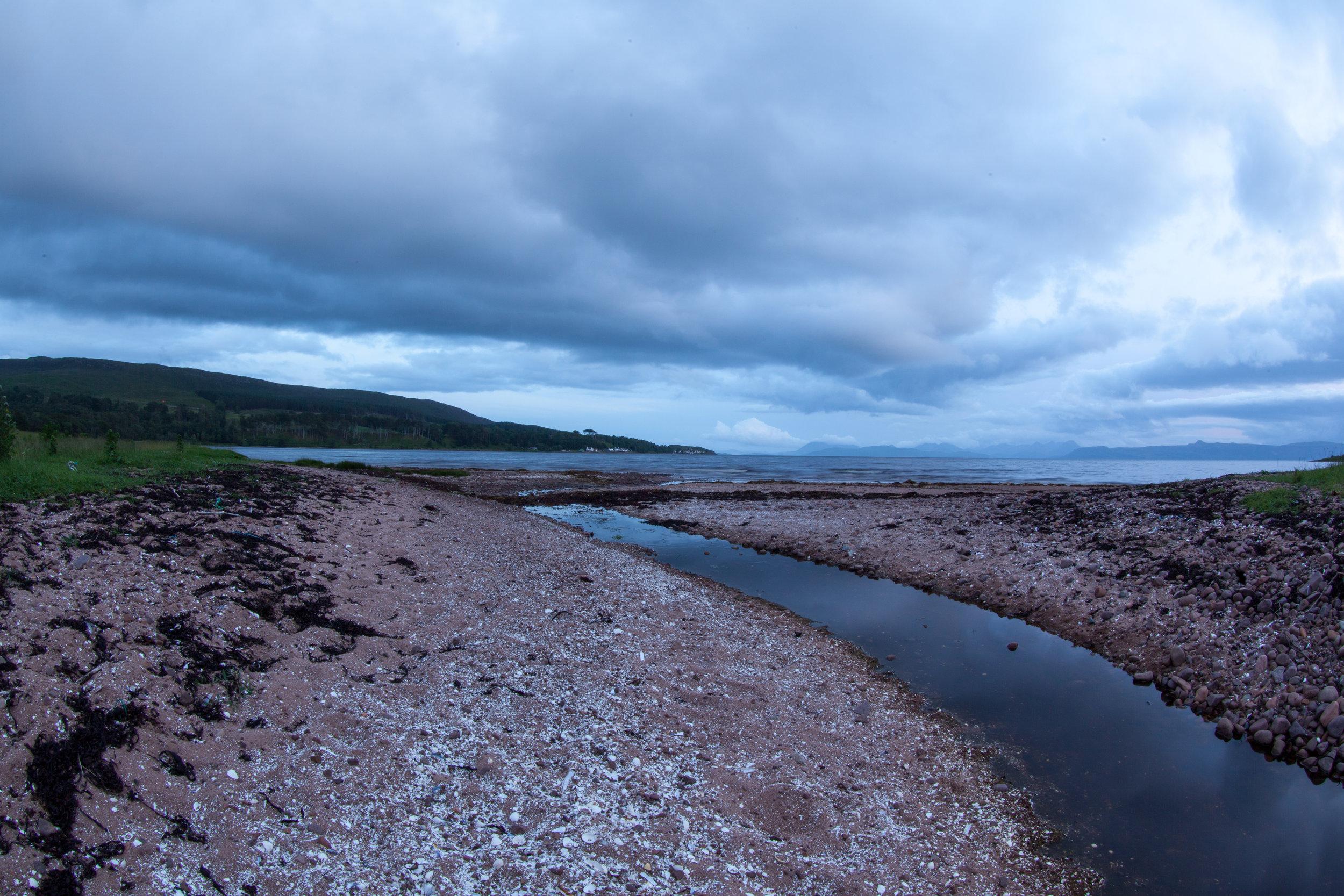 Coastline of Scotland.