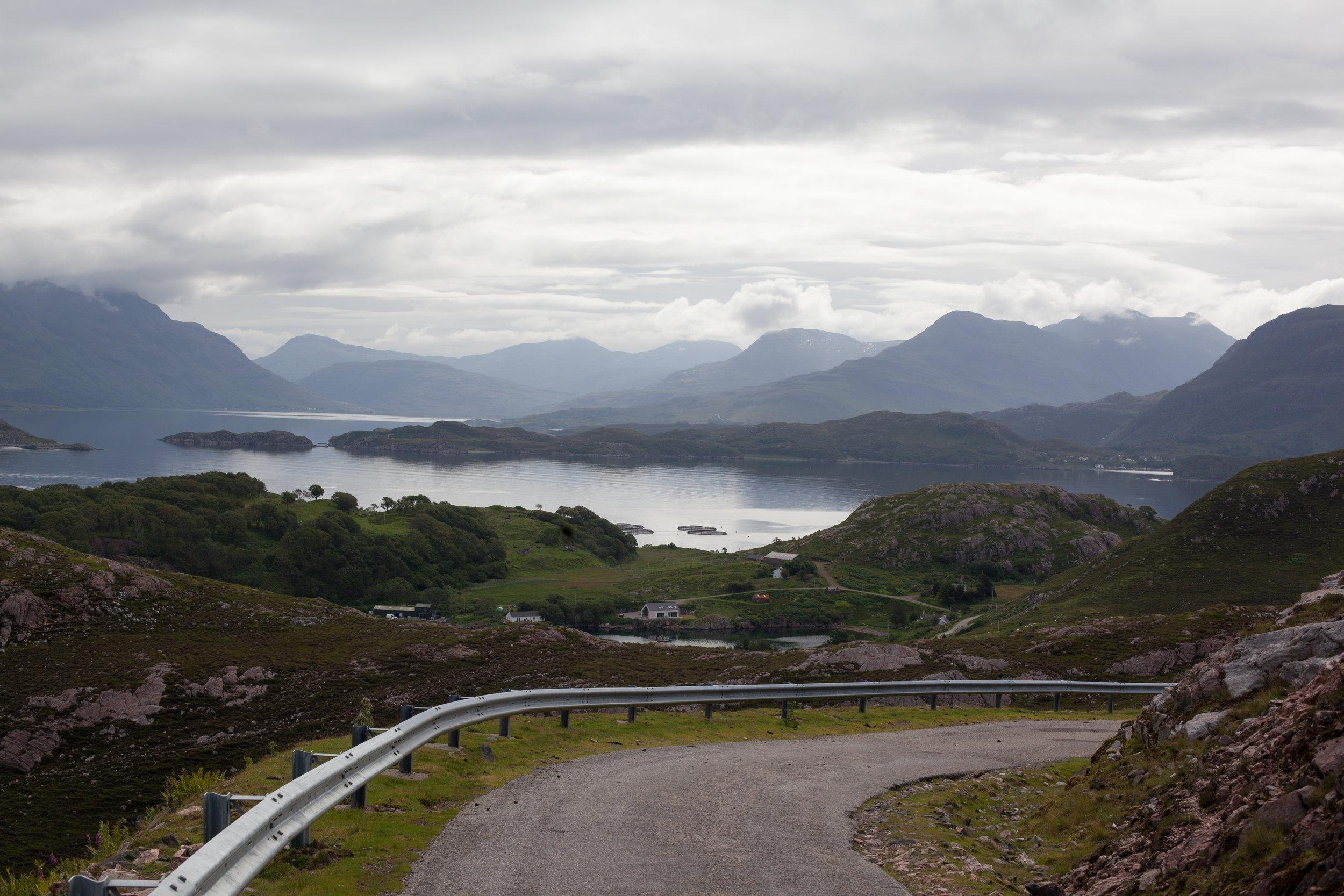 Travel through Scotland.