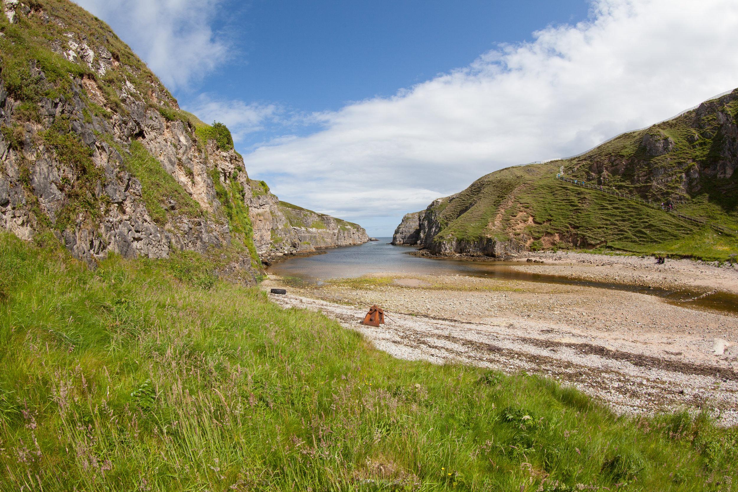 The pretty Scottish coastline.