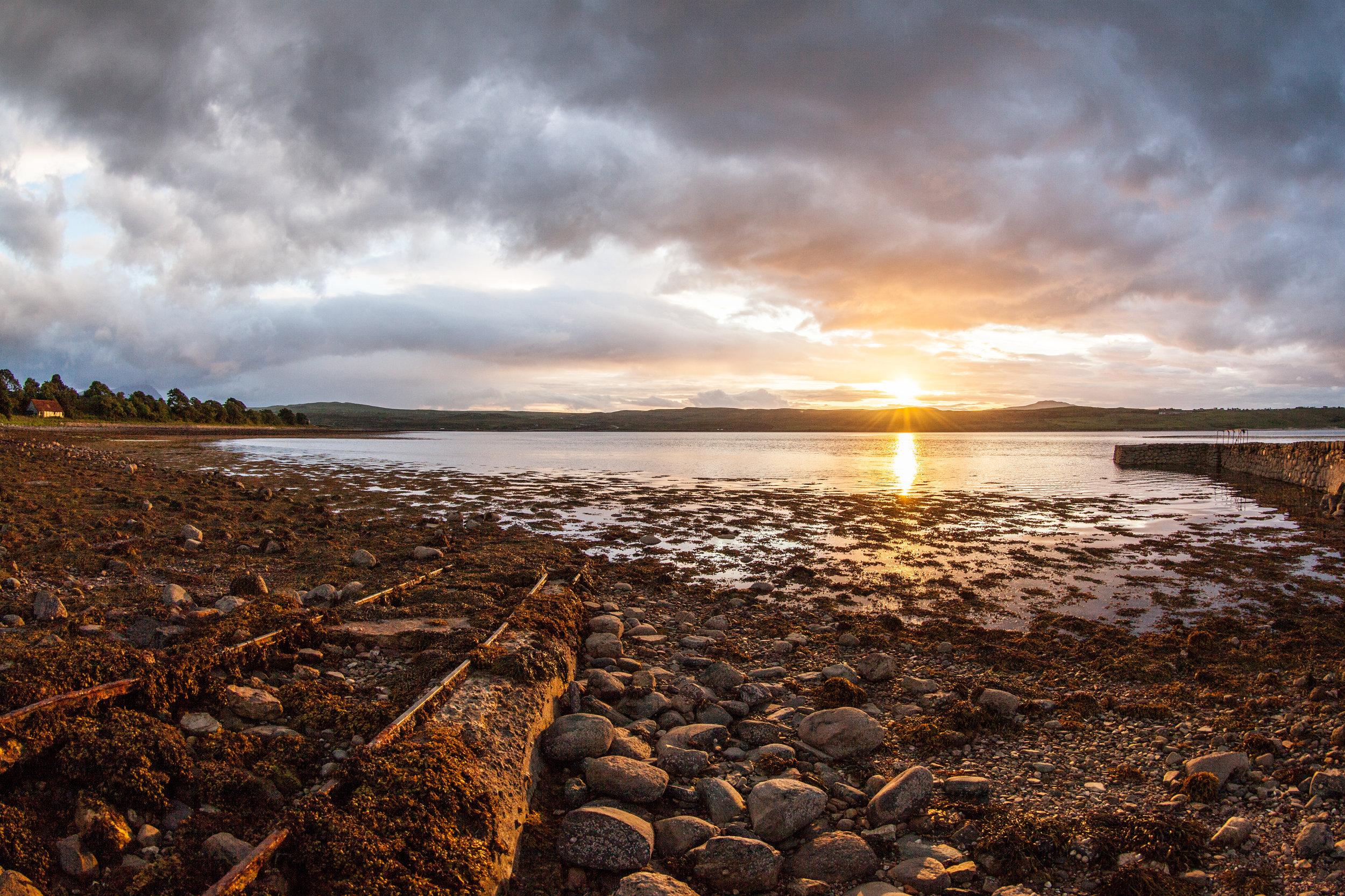 A stunning sunset in Scotland.