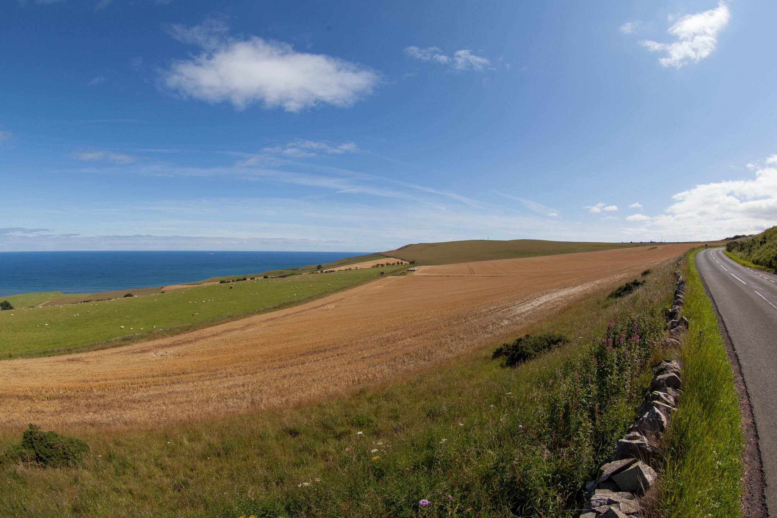 Coastal road, Scotland.