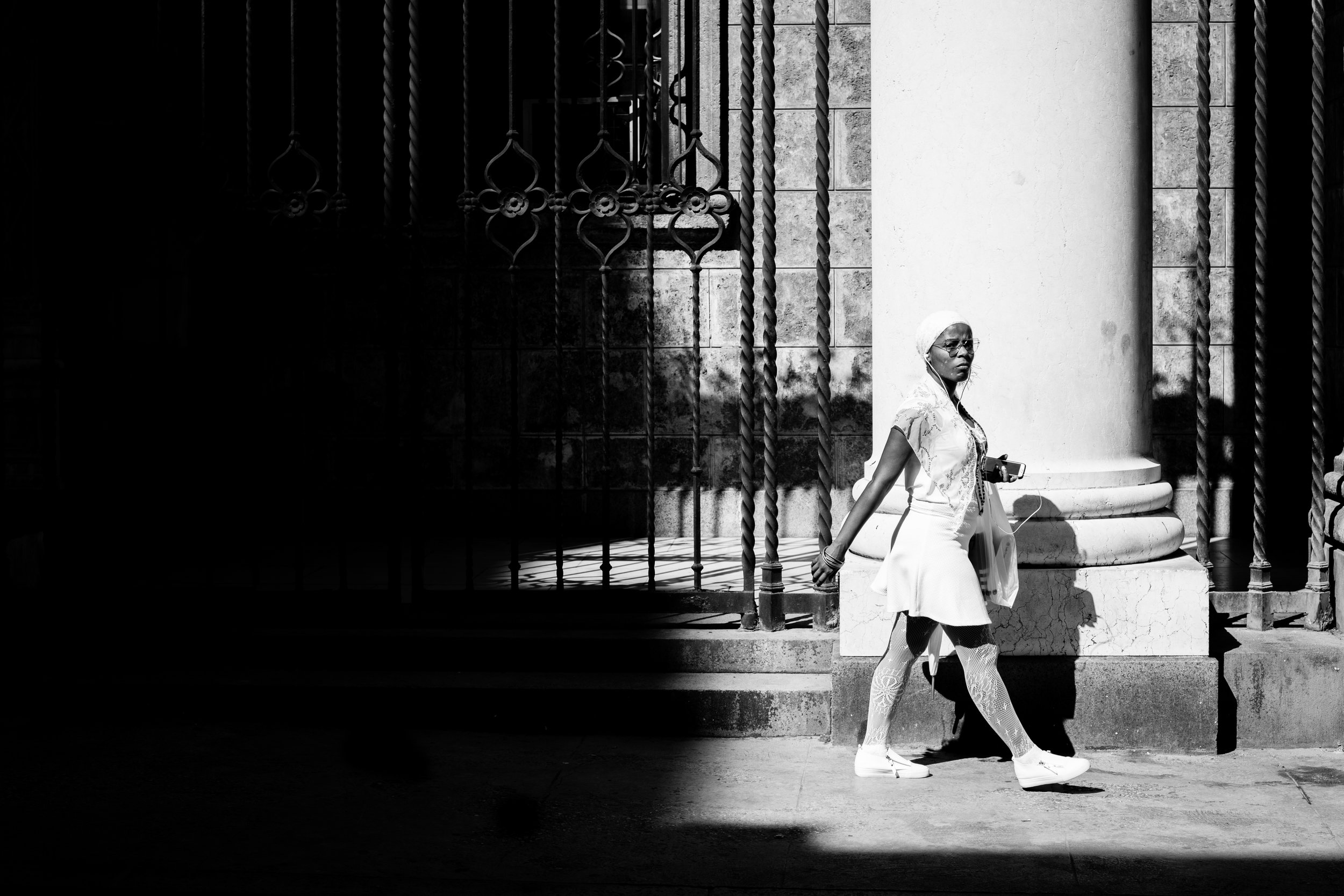 Using shadows to create a frame within a frame in La Habana, Cuba.