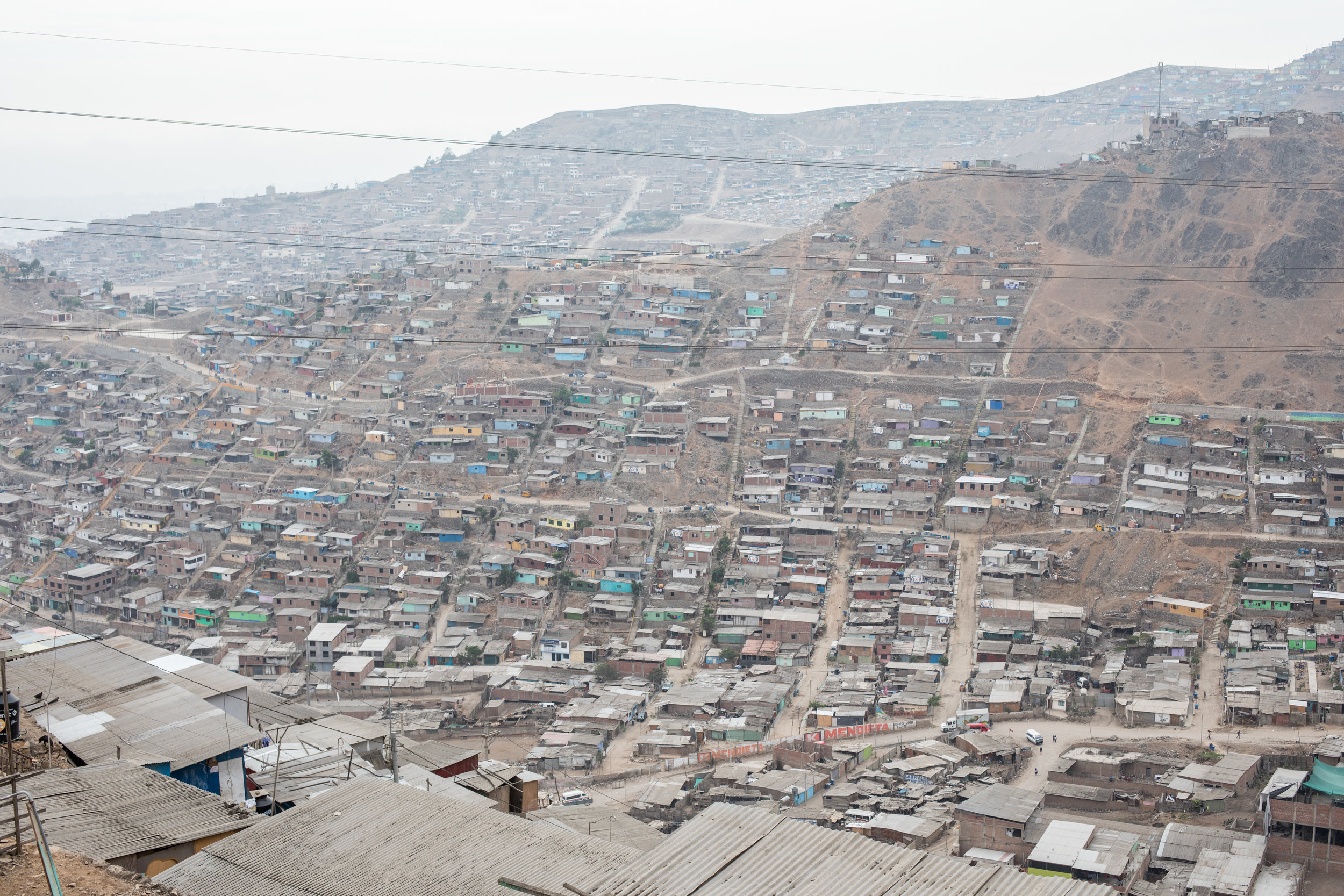 A shanty town in Lima, Peru, photo by Geraint Rowland.