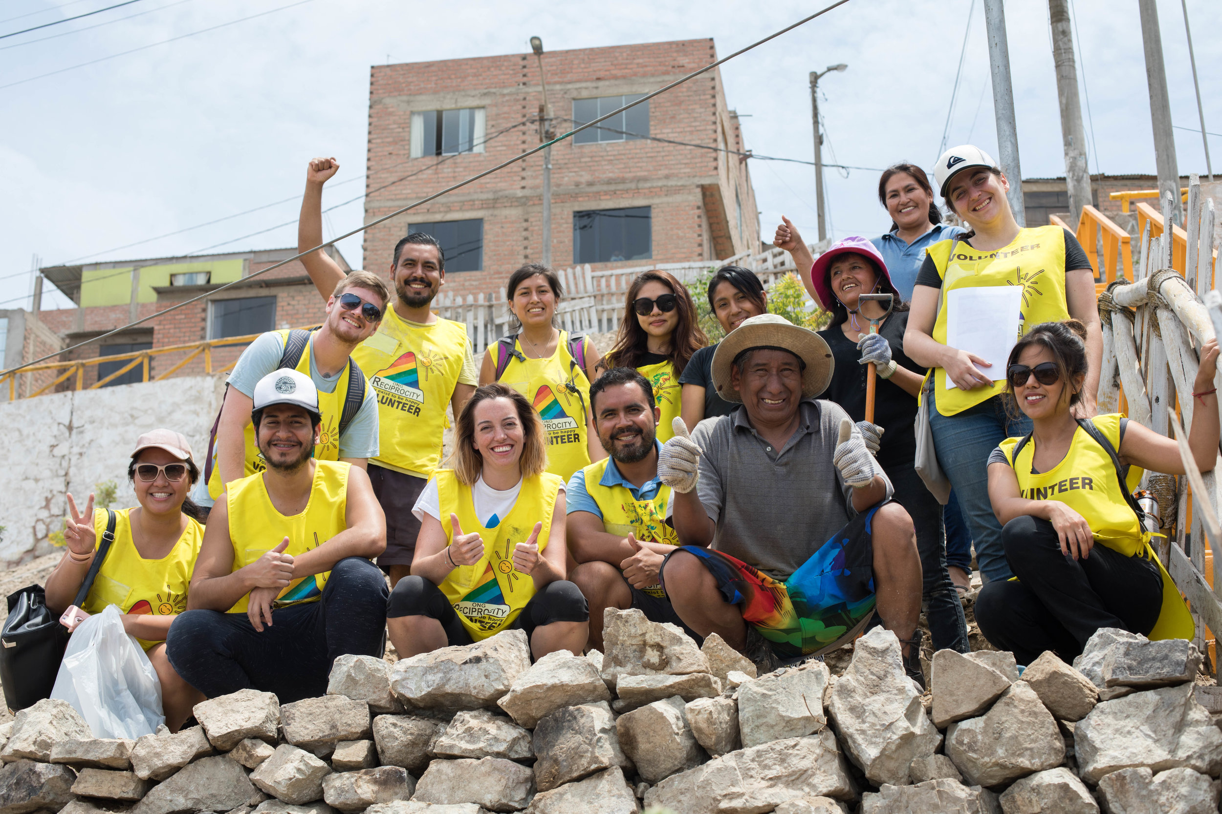 The happy and hard working volunteers of Reciprocity NGO in Lima, Peru.