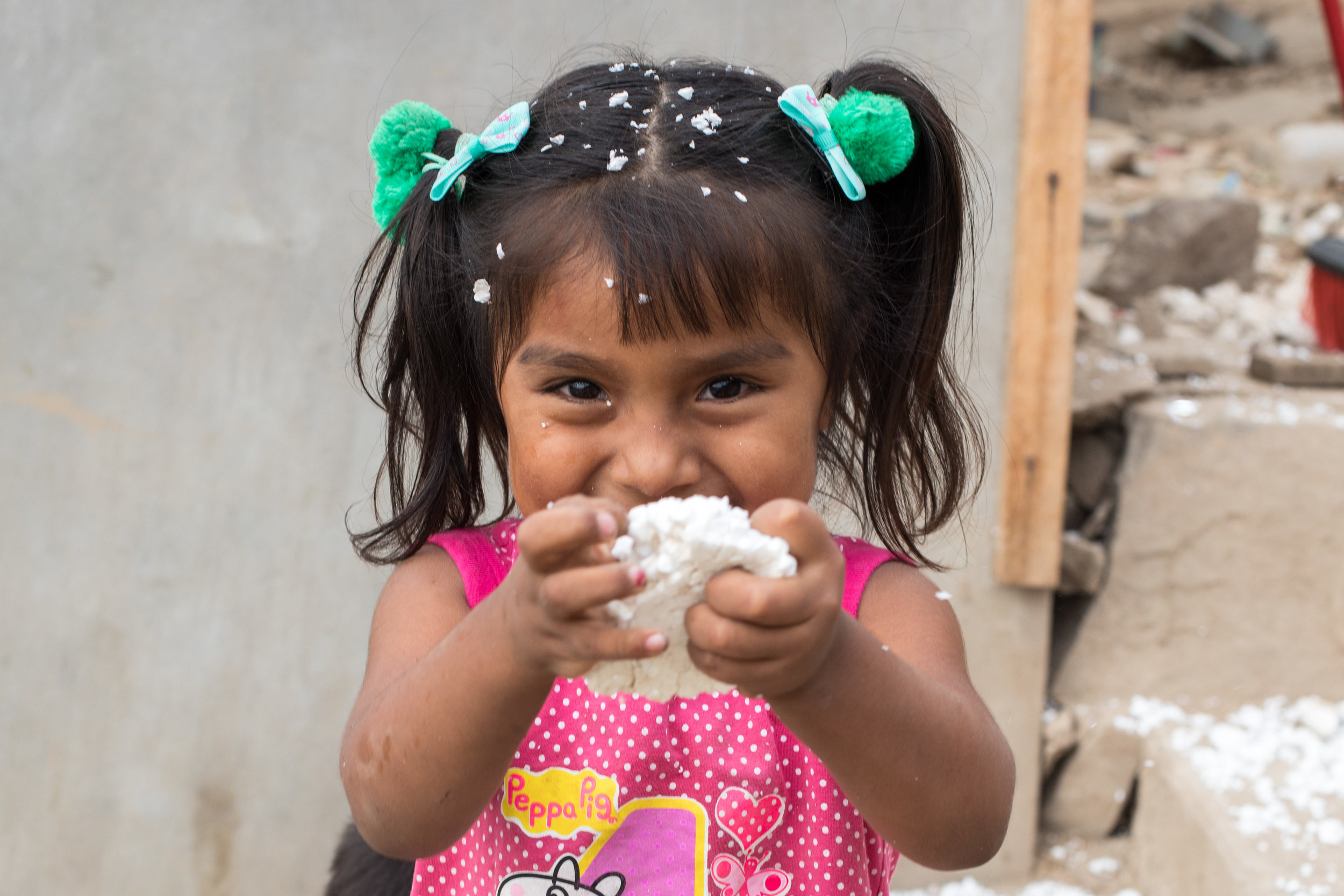 A cute Peruvian girl portrait by Geraint Rowland Photography.