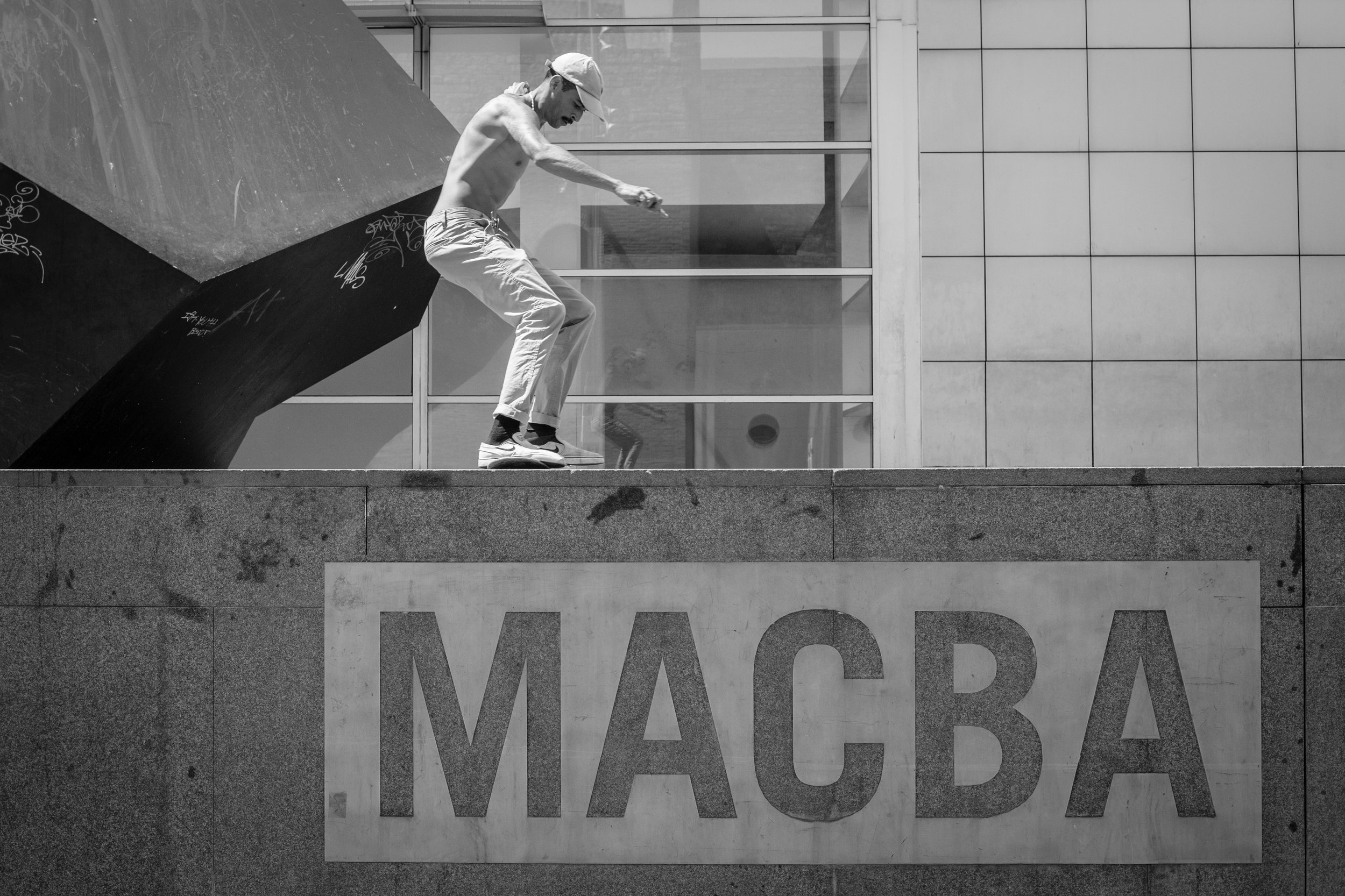 Skateboard Photography at MACBA, Barcelona.