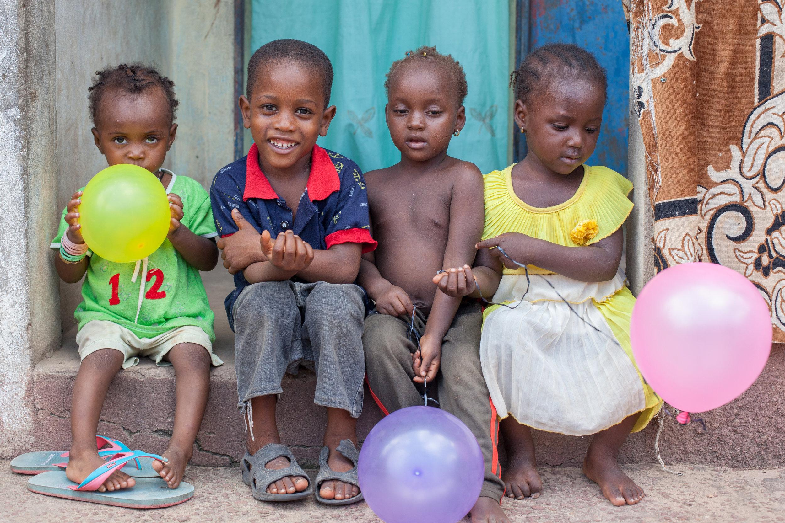 Happy children in The Gambia.