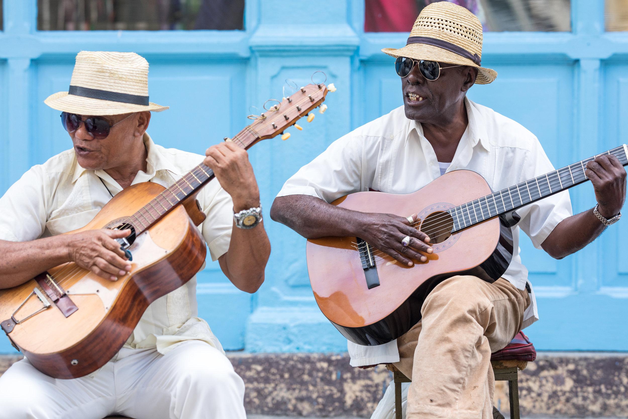 4.  Cuban Street Photography, Musicians in Havana.