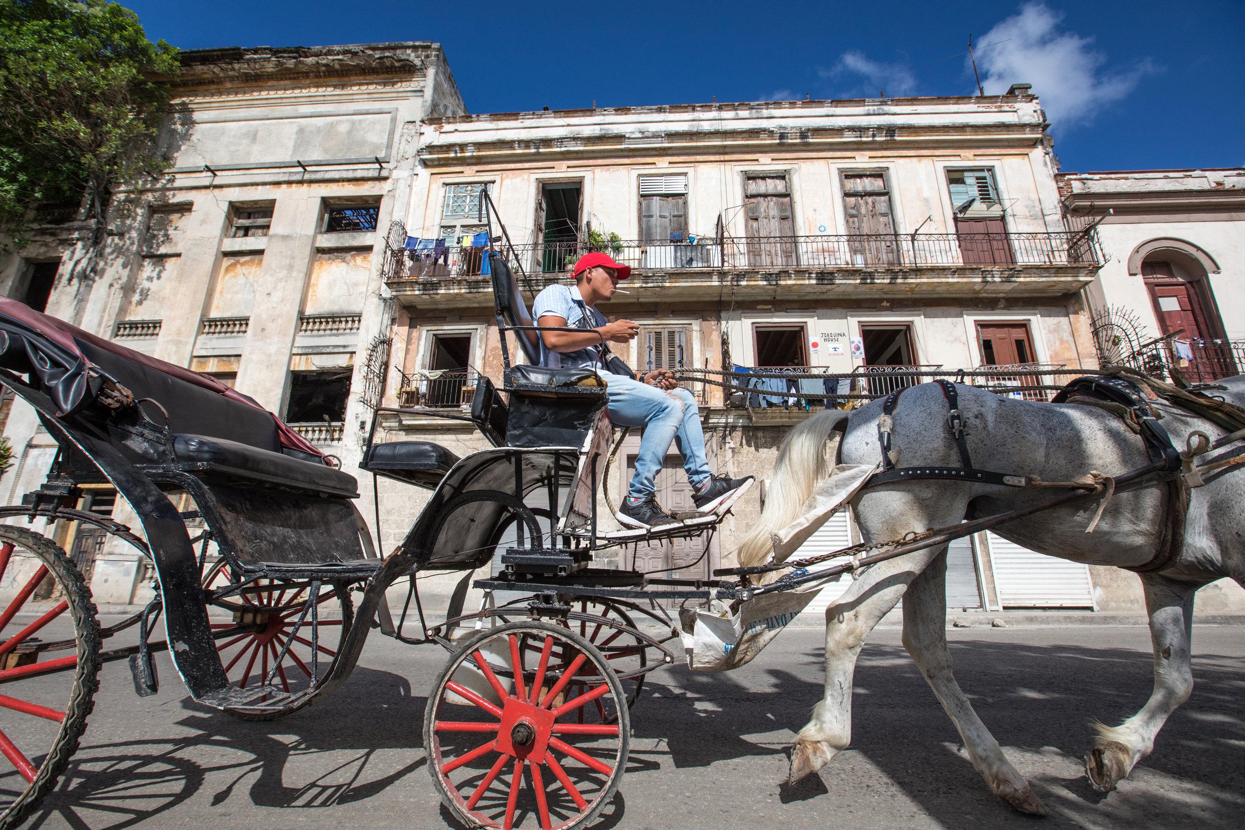 5.  Horse & Cart on the streets of La Habana, Cuba.