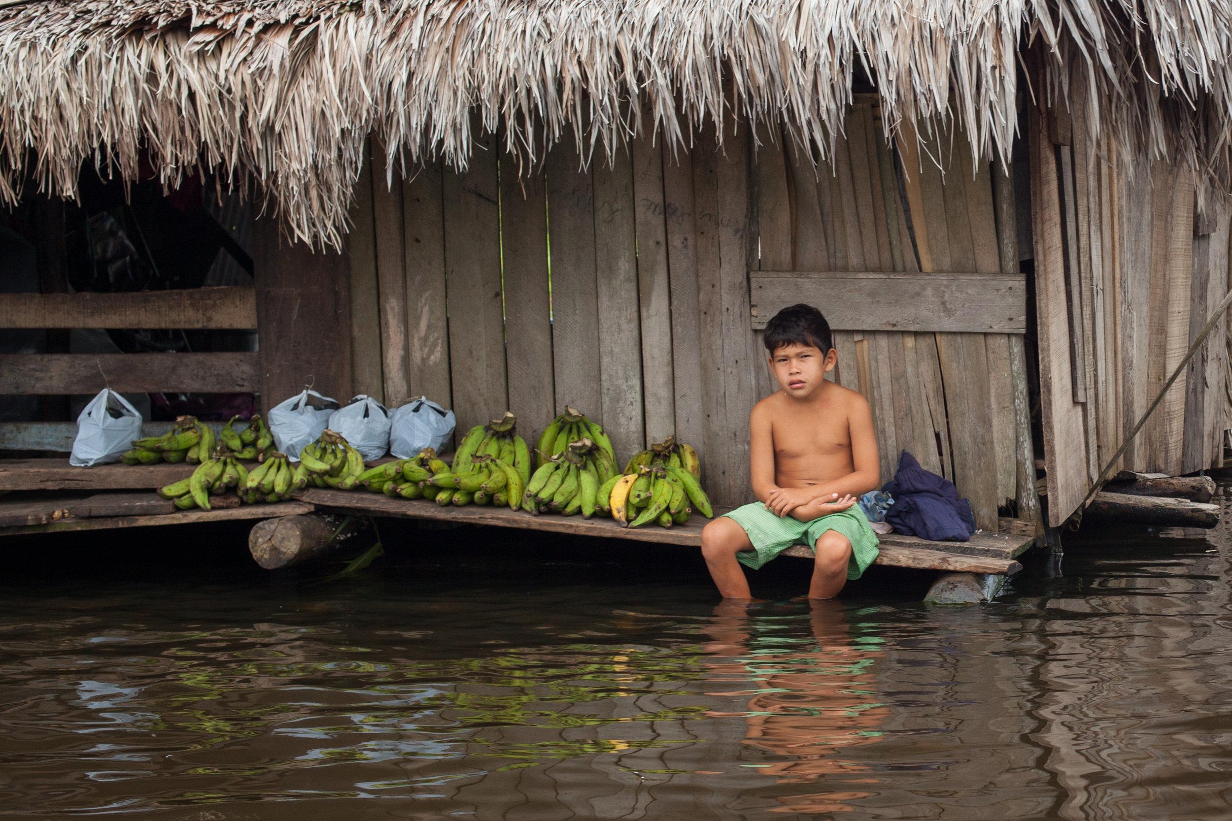 Ffotogallery Platform Instagram Takeover by Geraint Rowland - Banana Seller, Belen Village, Iquitos, Peru.