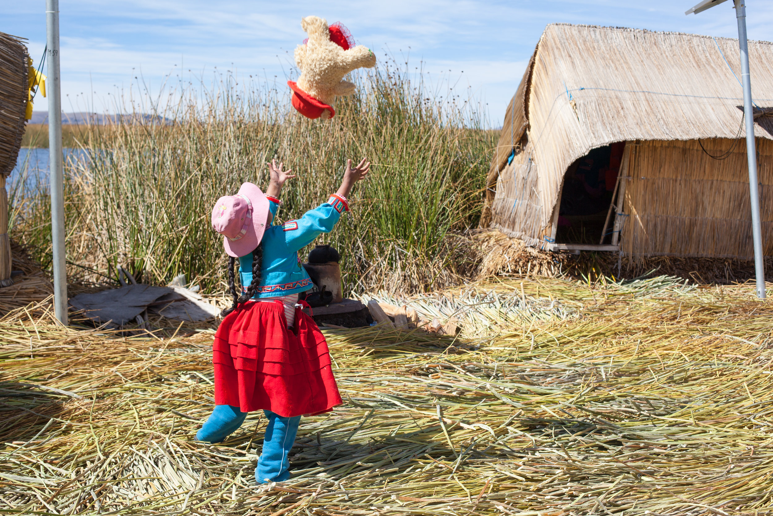 Ffotogallery Platform Instagram Takeover by Geraint Rowland - Uros Islands, Peru candid portrait.
