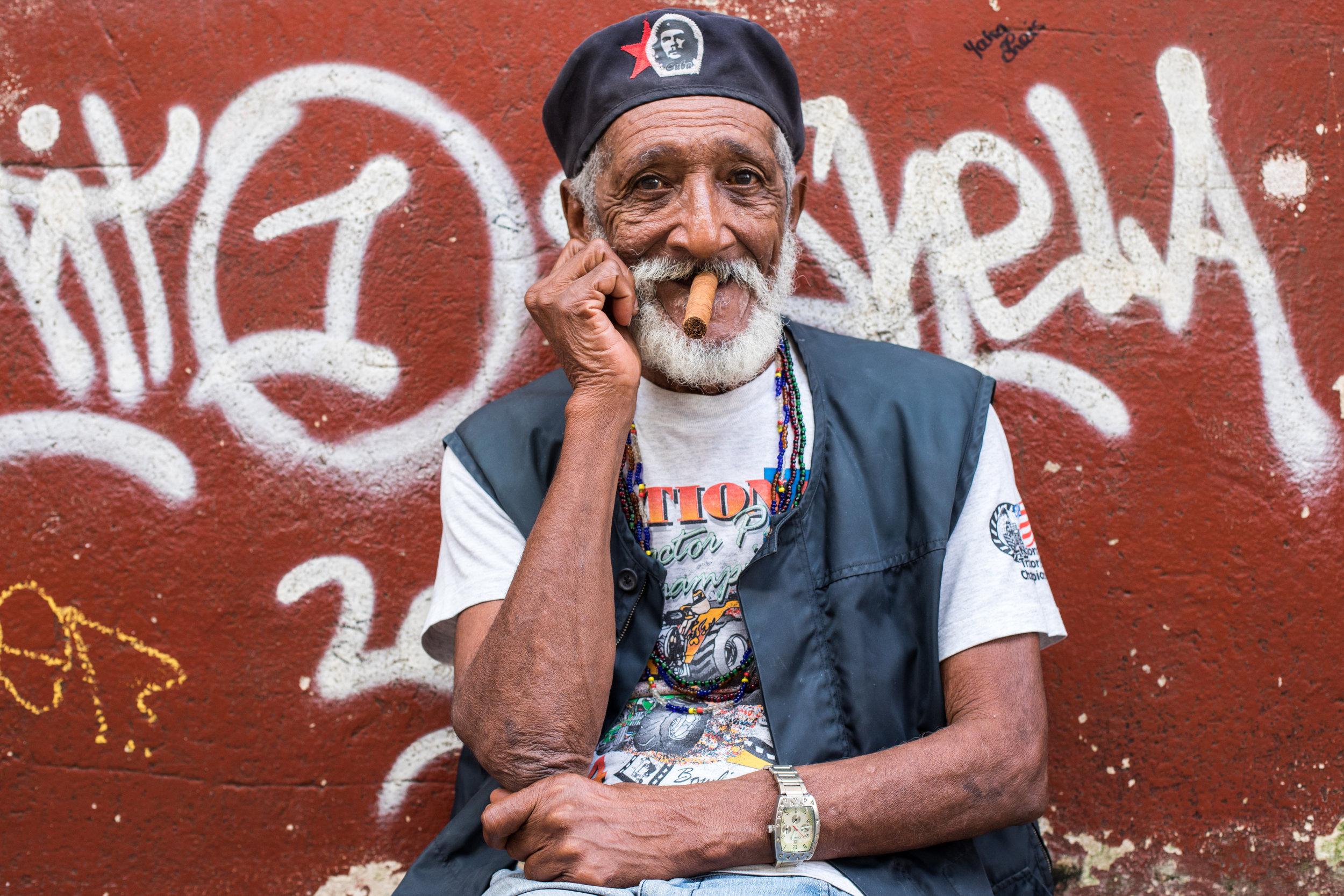 Classic Cuban Portrait by Geraint Rowland, Havana.