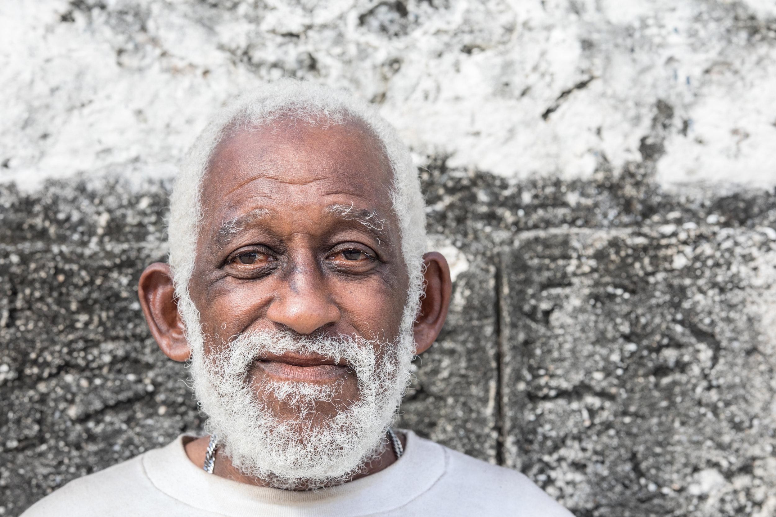 A head shot portrait taken in La Habana, Cuba.