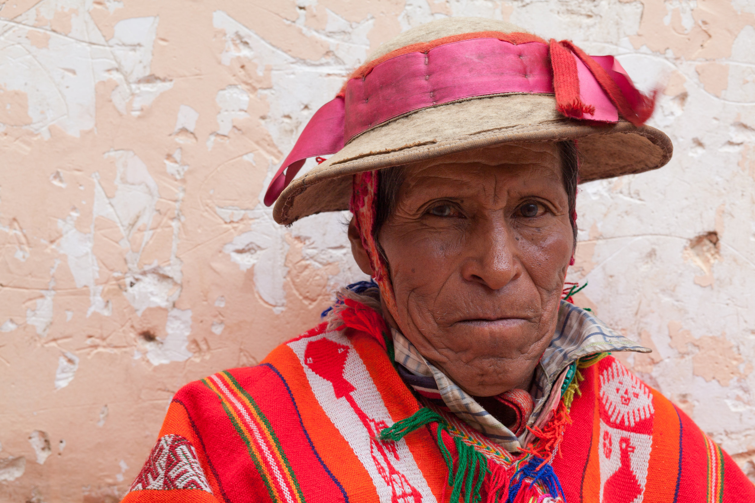 Peruvian portrait in Ollantaytambo in the Sacred Valley.