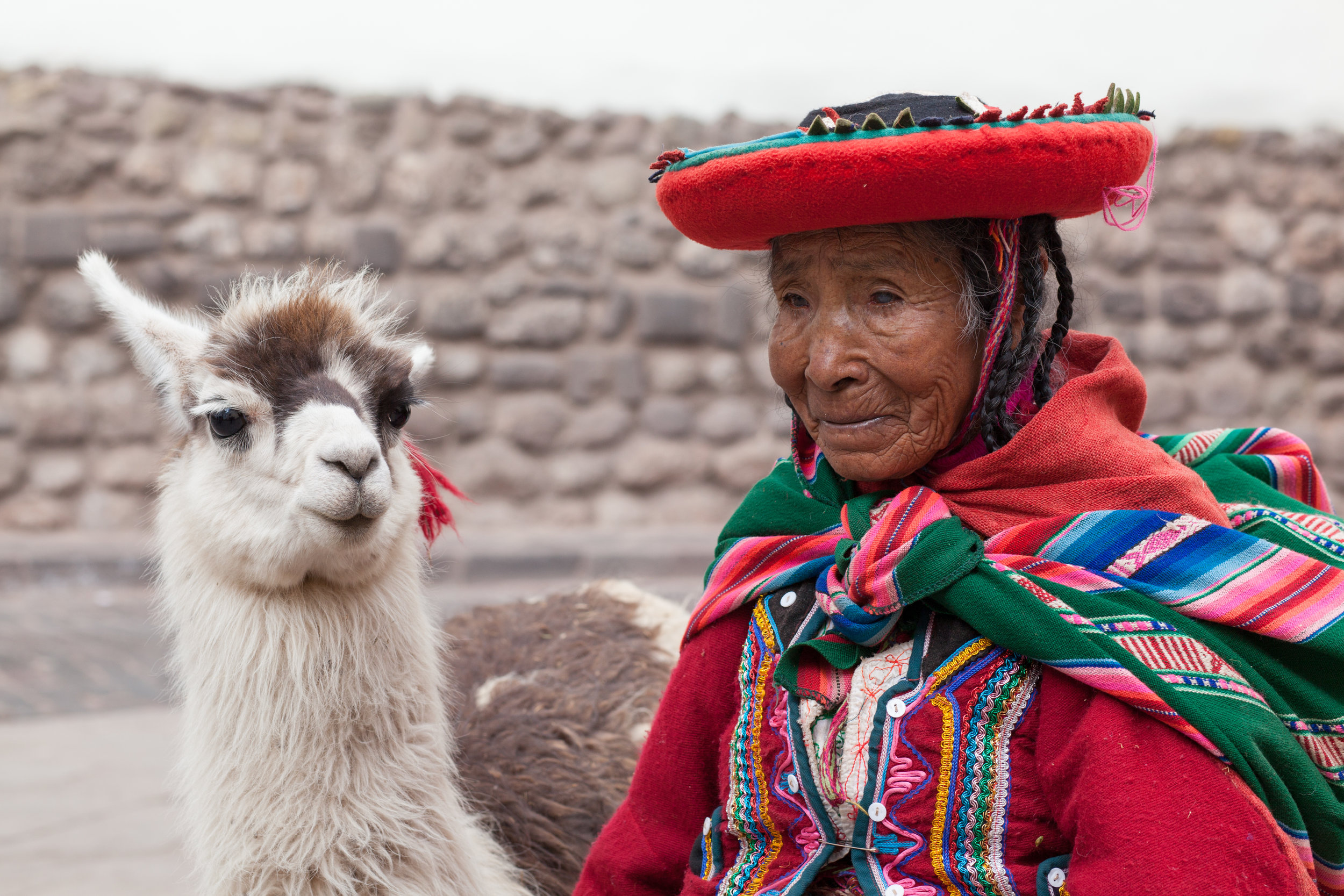 Peruvian Portrait by Geraint Rowland, Cusco.