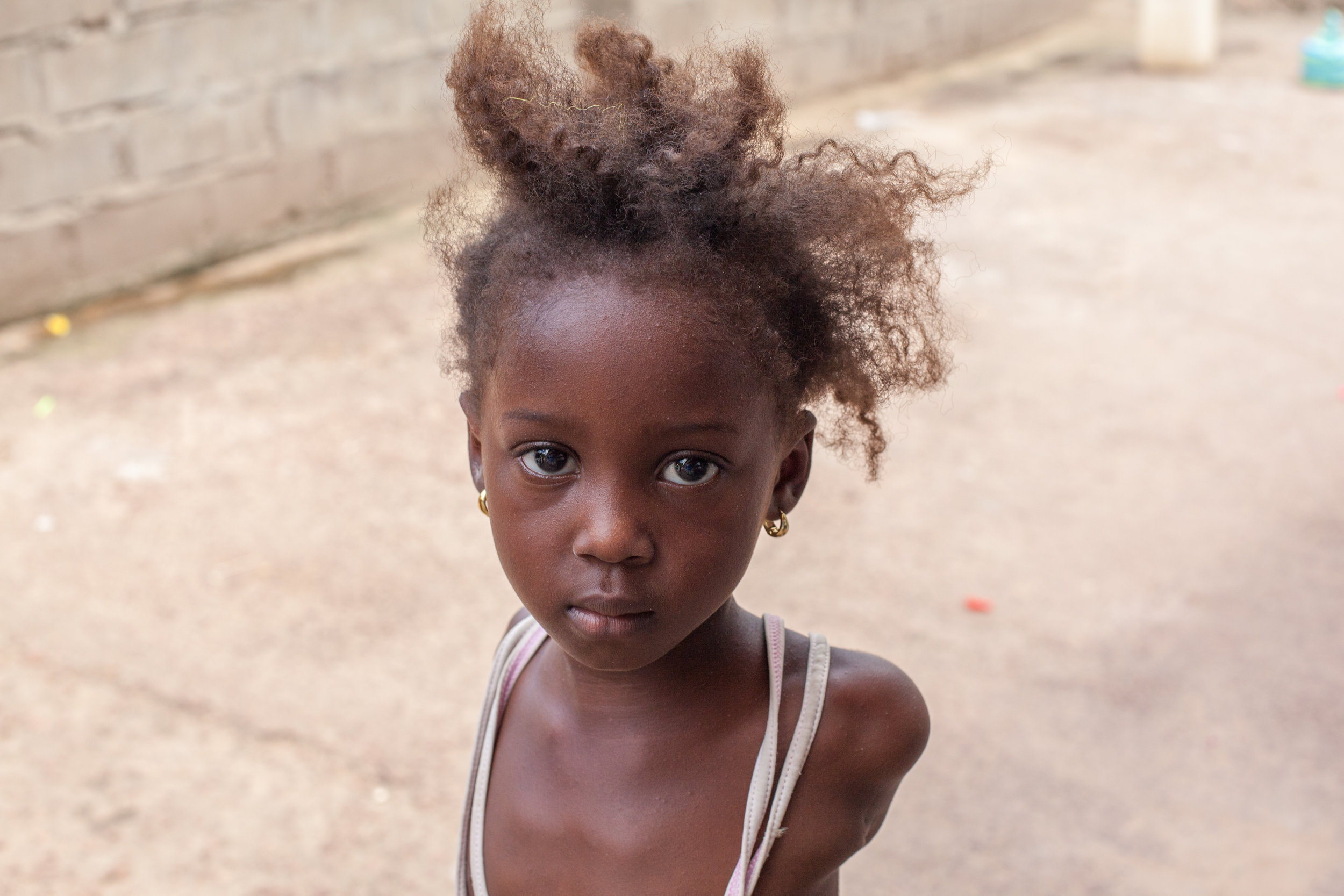 African Child Portrait by Geraint Rowland, The Gambia