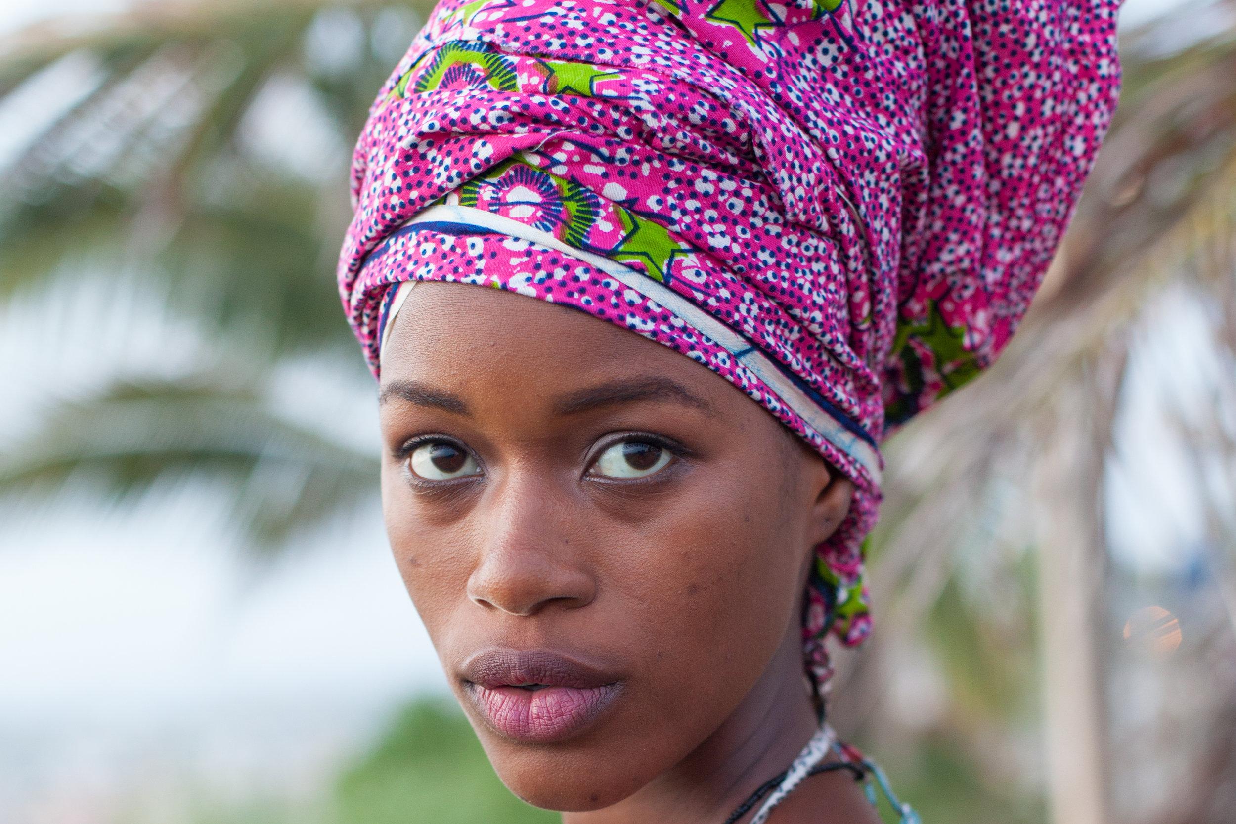 Natural light head shot in Senegal.