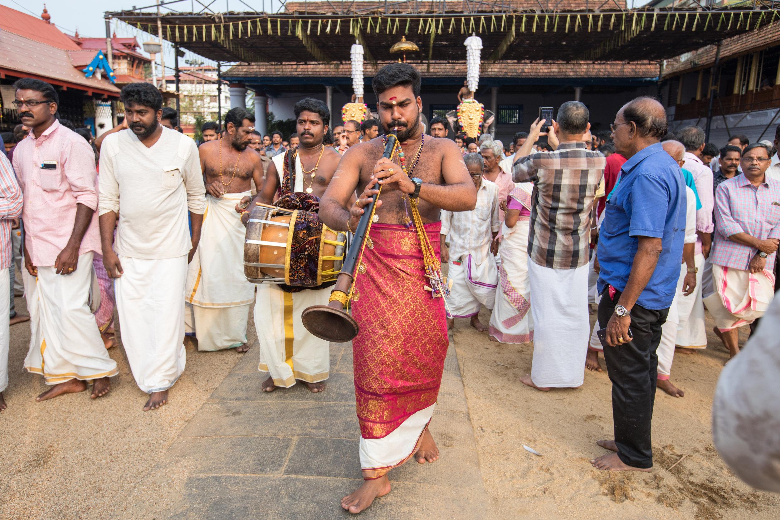 Musicians at Kerala Elephant Festivals.