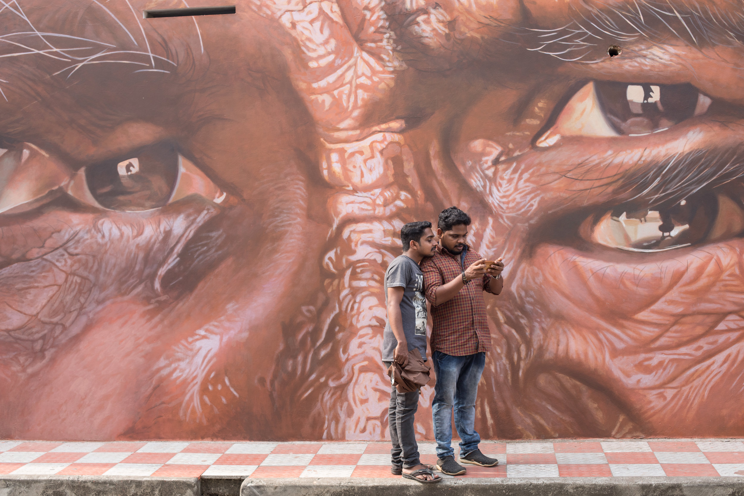 Street Photography and Art at the Kochi-Muziris Biennale 2018.
