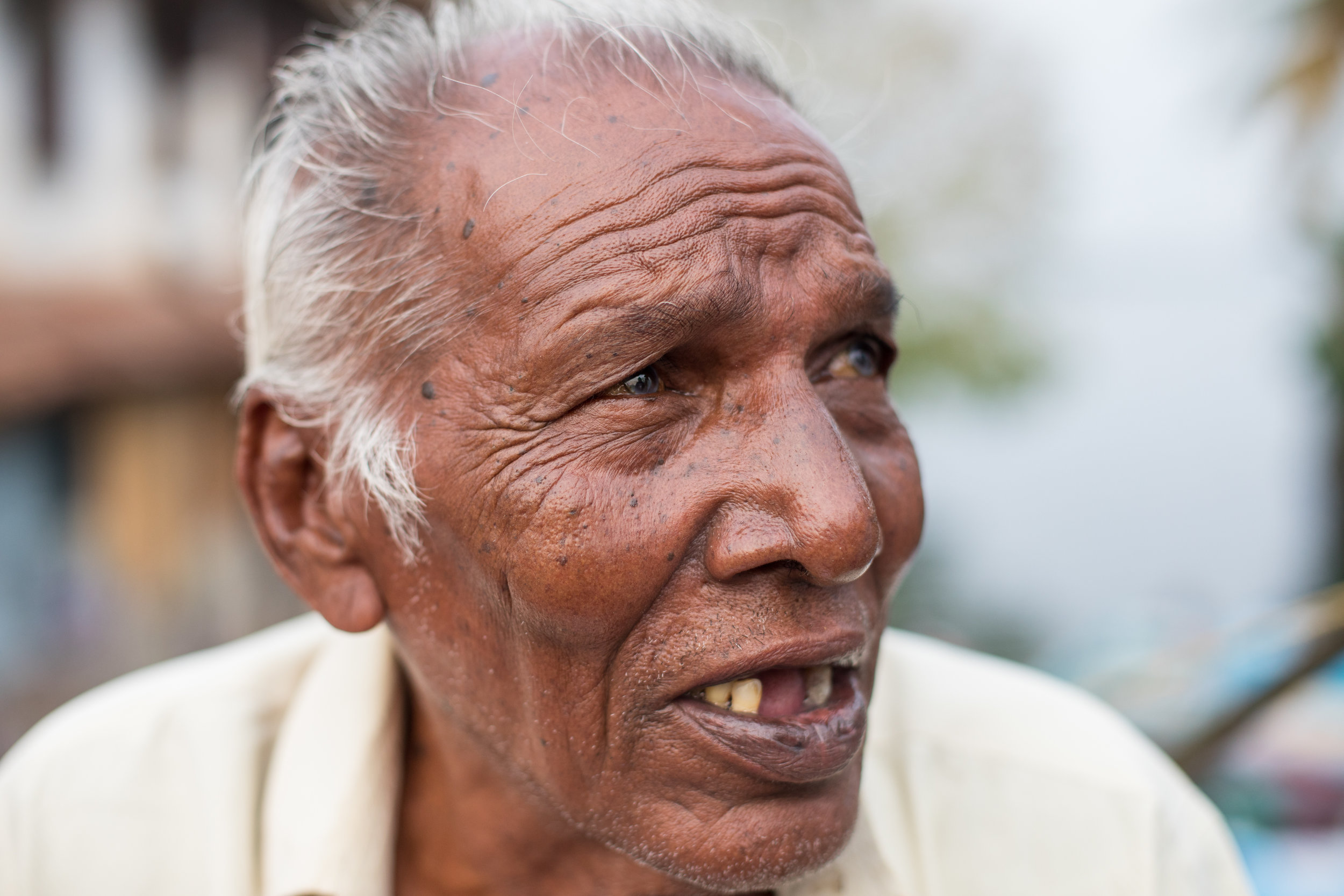Head Shot of an Indian Man from Fort Kochi by Geraint Rowland.
