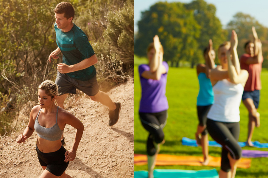 Total Transformation combines fitness boot camp classes with outdoor yoga. Great for weight loss and overall health.
