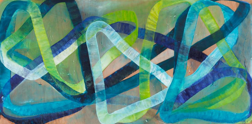 'Onda'180x360cm, Oil paint on Plywood