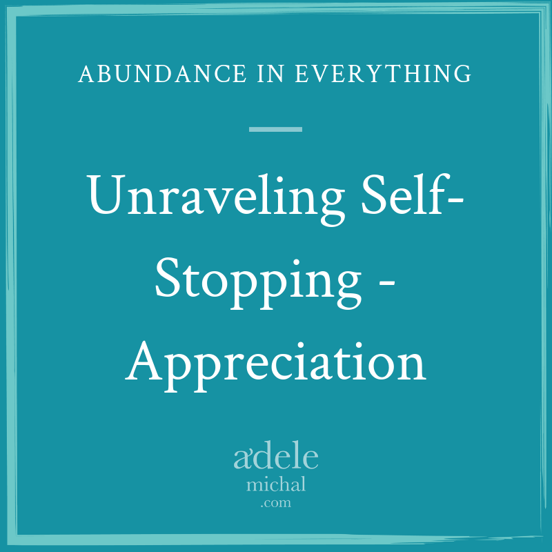 Unraveling Self-Stopping - Appreciation