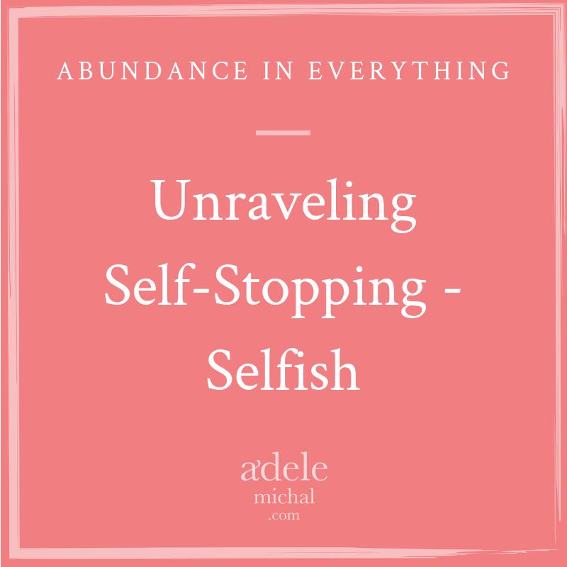 Unraveling Self-Stopping - Selfish