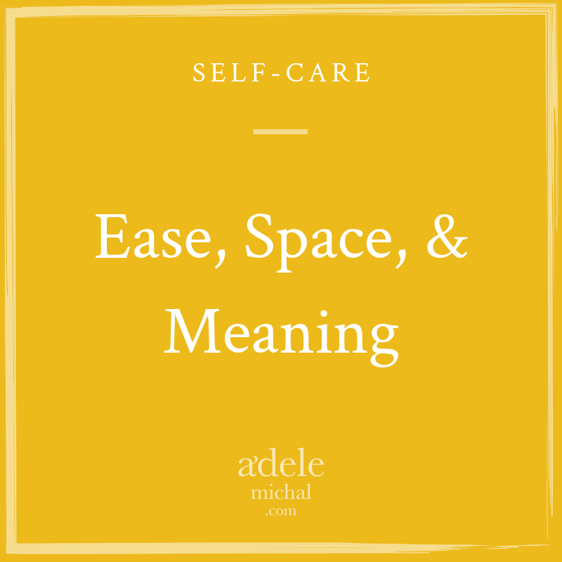 Ease, Space, & Meaning