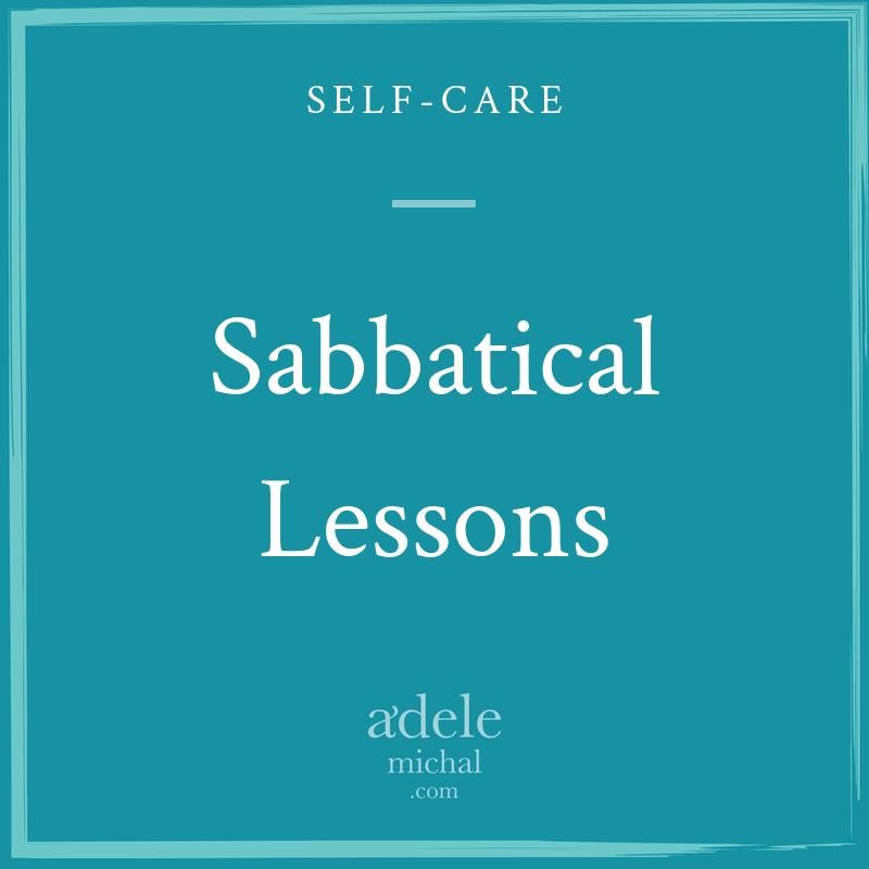 Sabbatical Lessons