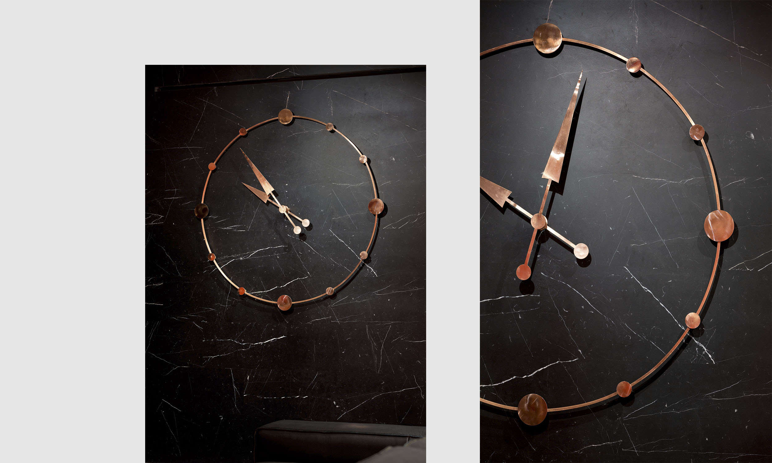 Медные часы созданные нашим токарем. Copper clock crafted by our lathe hand.