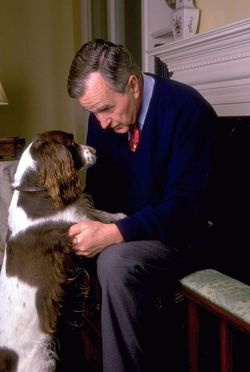 george bush and millie.jpg